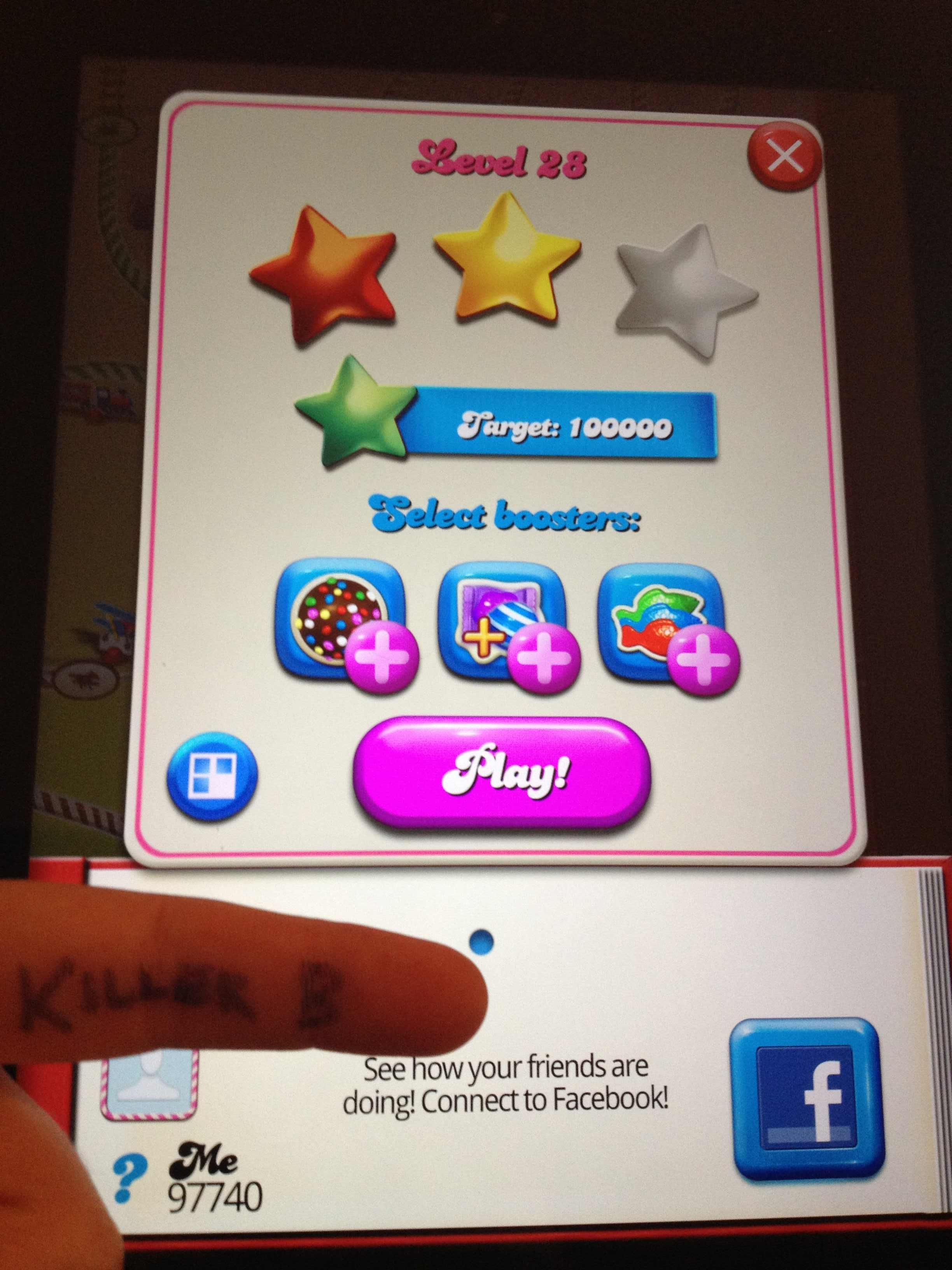 Candy Crush Saga: Level 028 97,740 points