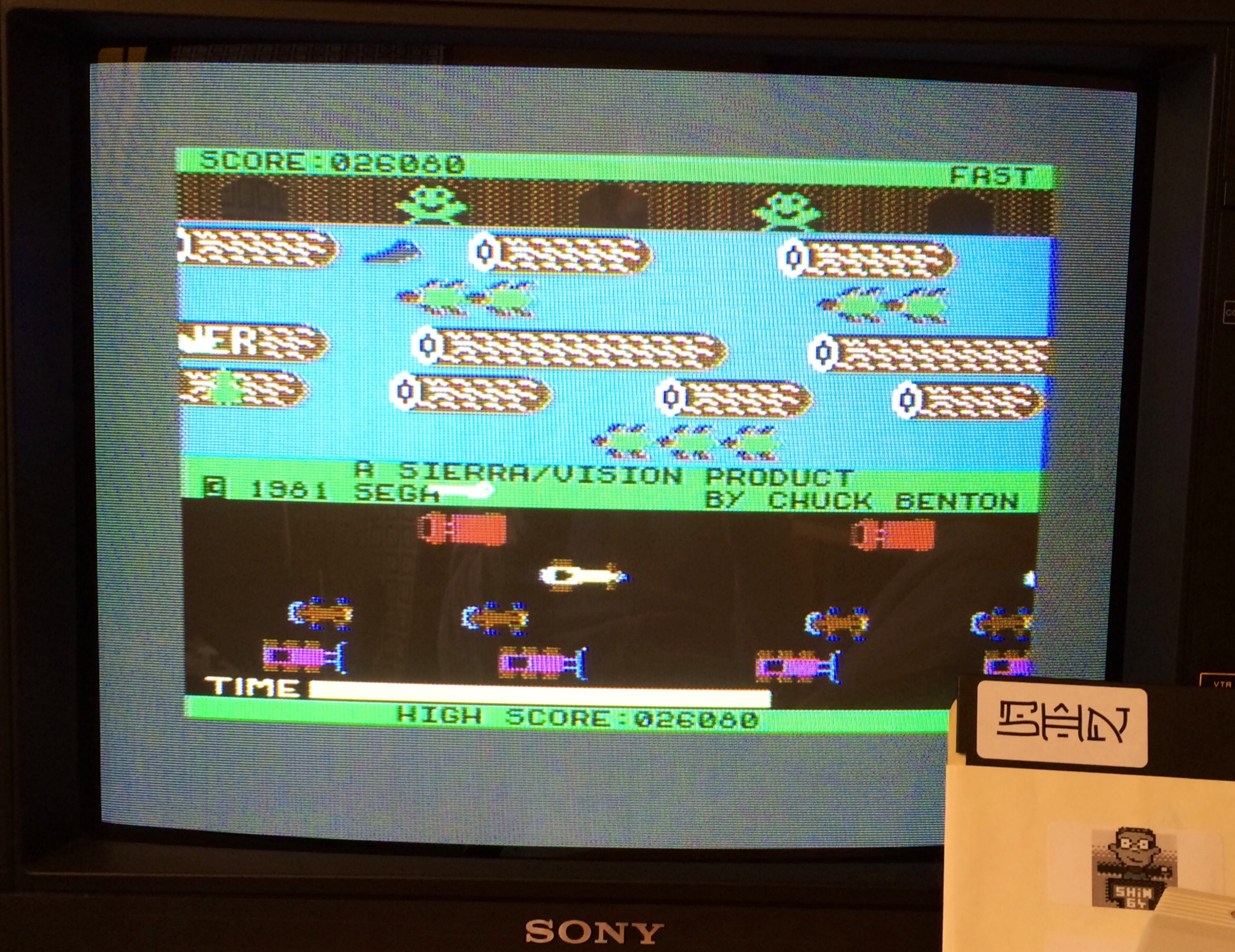 SHiNjide: Frogger: Sierra (Commodore 64) 26,080 points on 2014-09-22 10:23:21