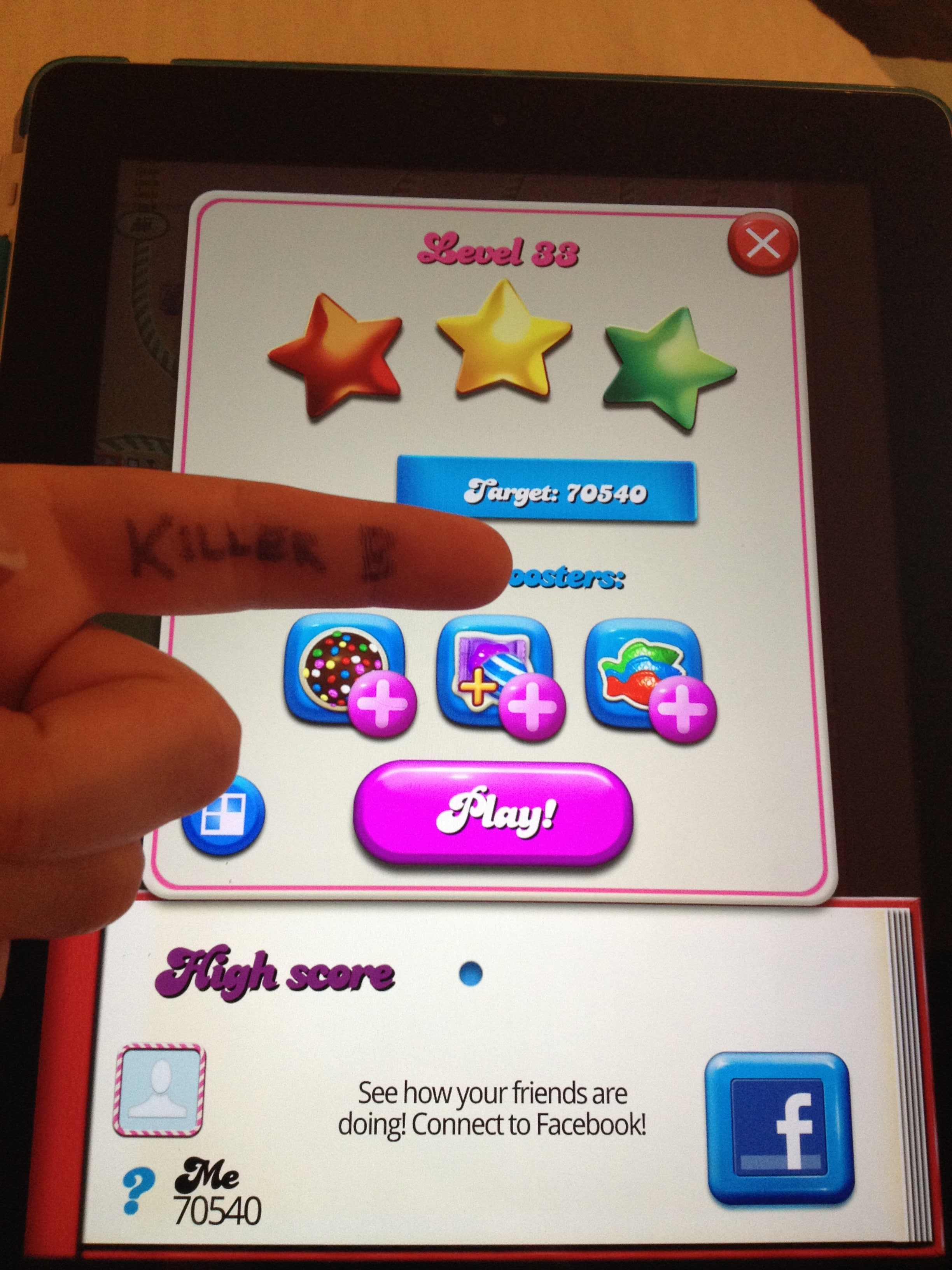 KillerB: Candy Crush Saga: Level 033 (iOS) 70,540 points on 2013-10-06 23:14:02