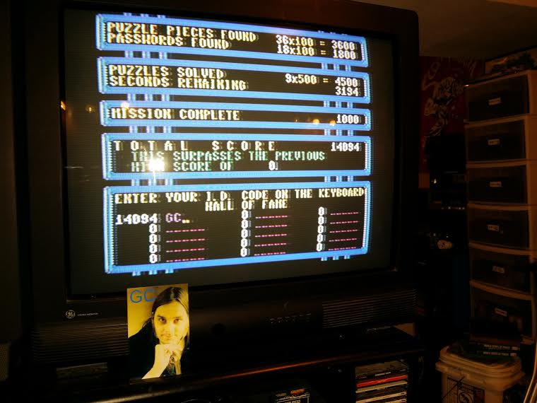 glenncase: Impossible Mission (Commodore 64) 14,094 points on 2014-09-23 08:52:15