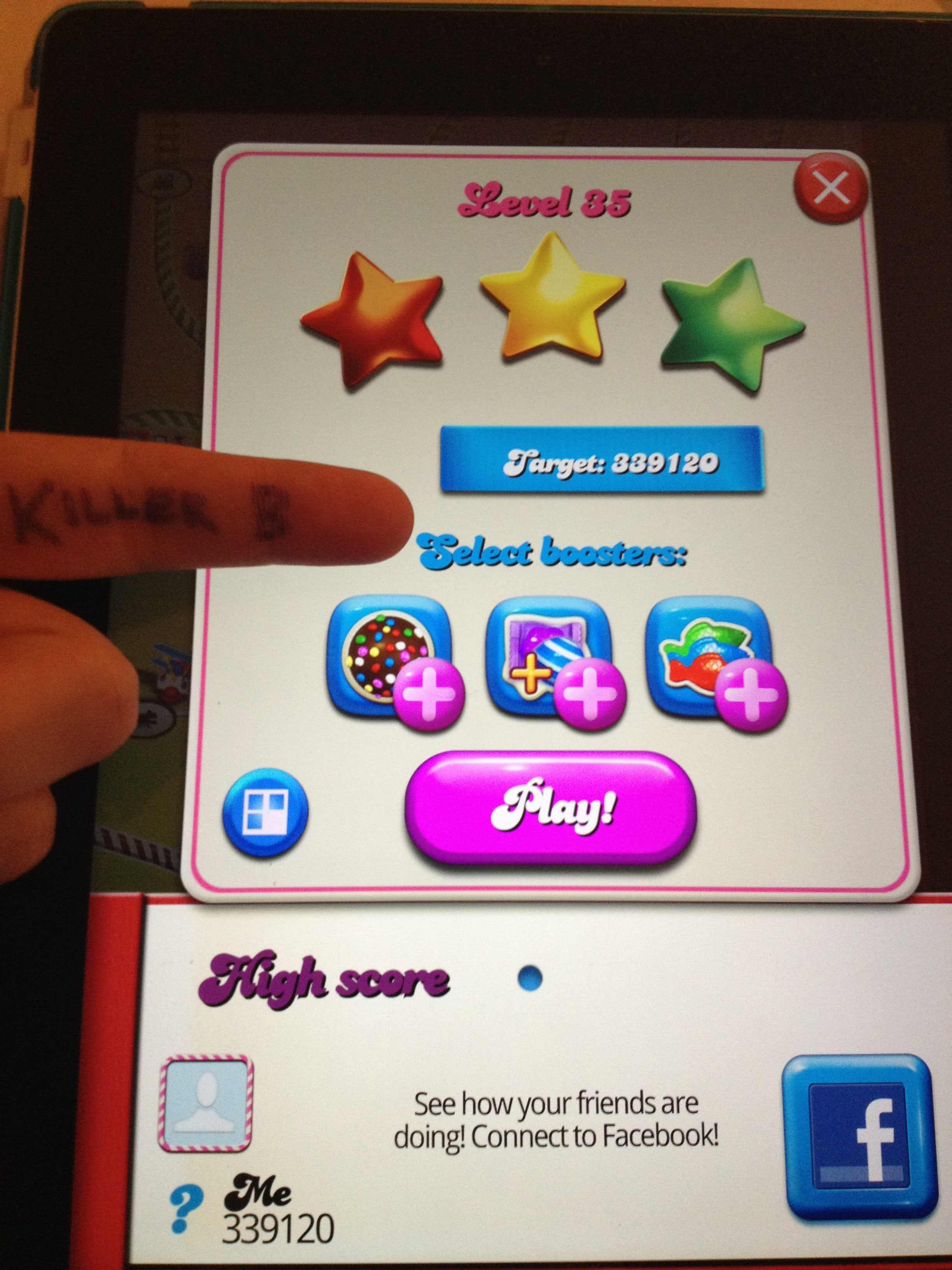 KillerB: Candy Crush Saga: Level 035 (iOS) 339,120 points on 2013-10-06 23:16:07
