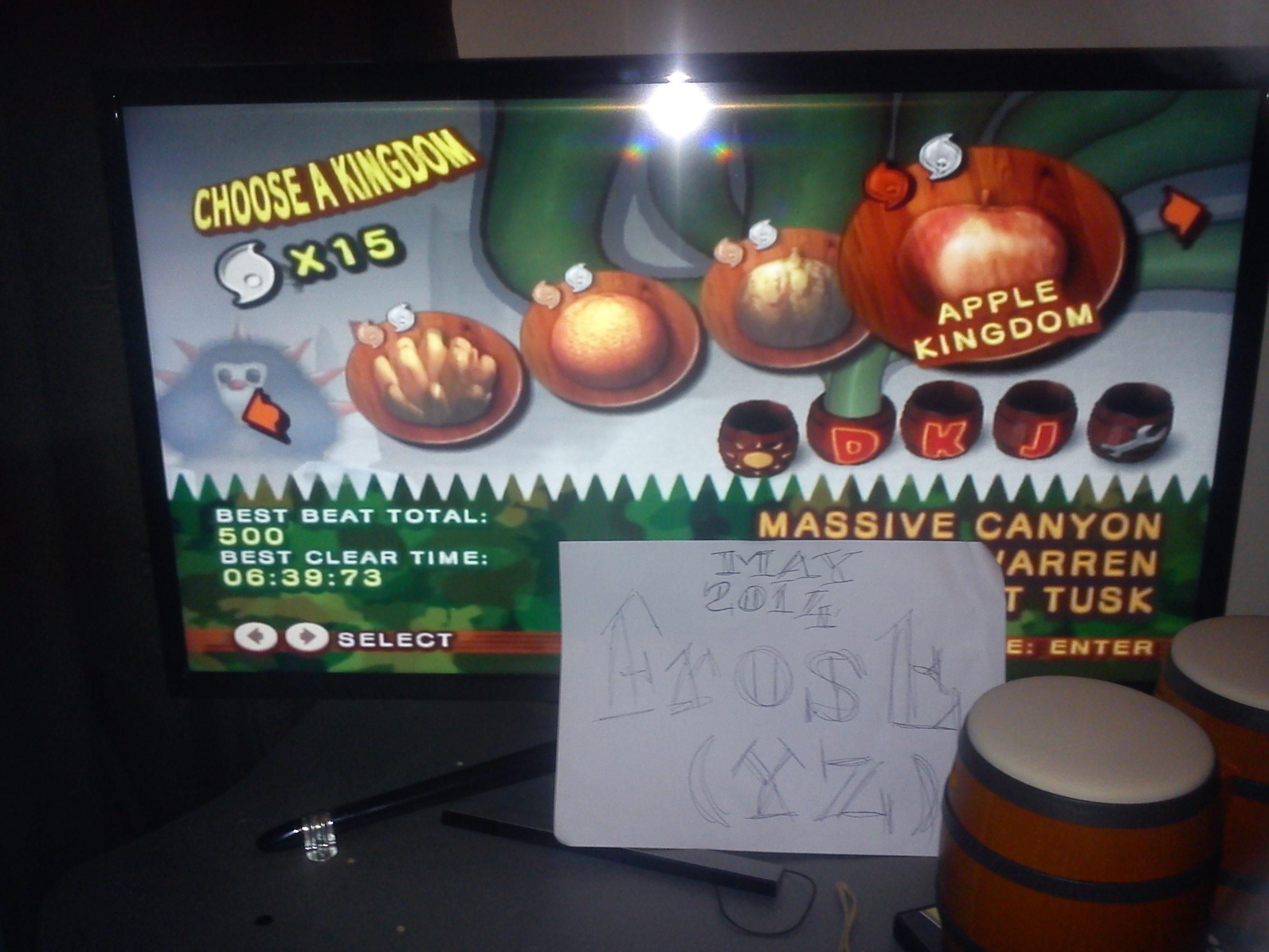 Donkey Kong Jungle Beat: Apple Kingdom [Shortest Time] time of 0:06:39.73