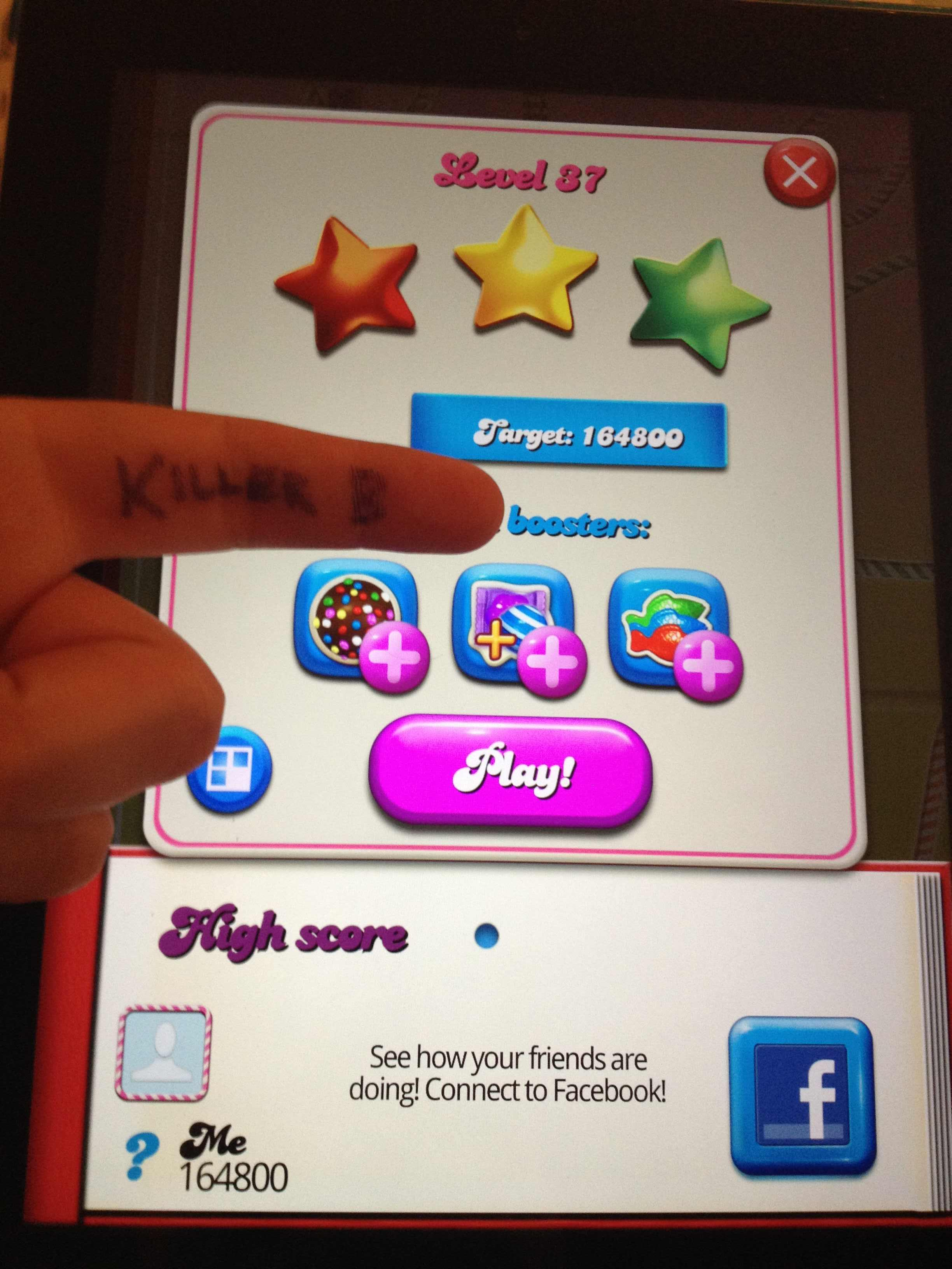 Candy Crush Saga: Level 037 164,800 points