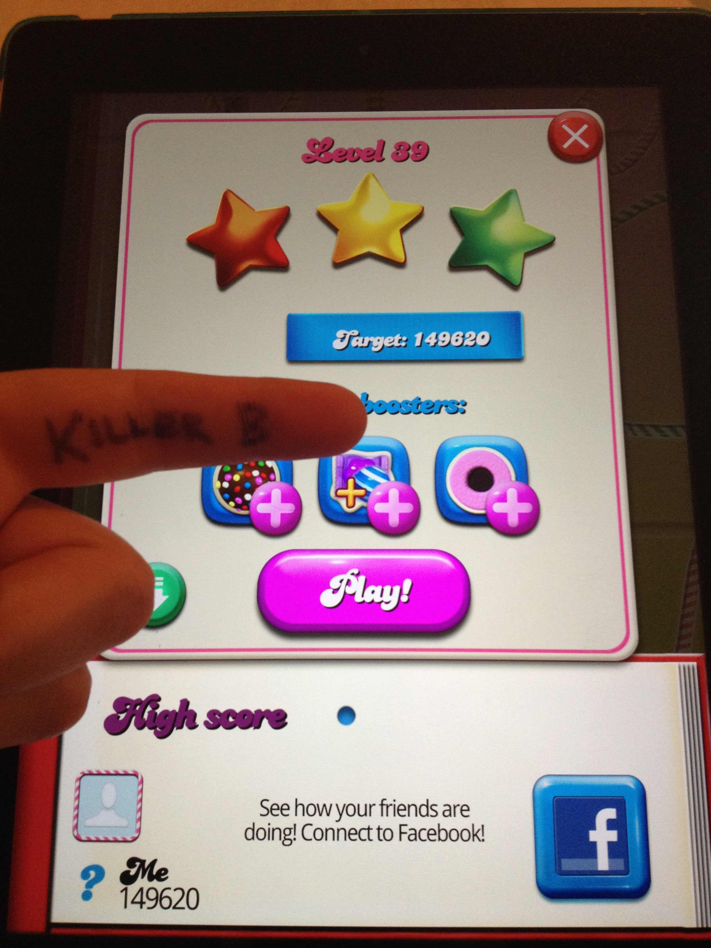 Candy Crush Saga: Level 039 149,620 points