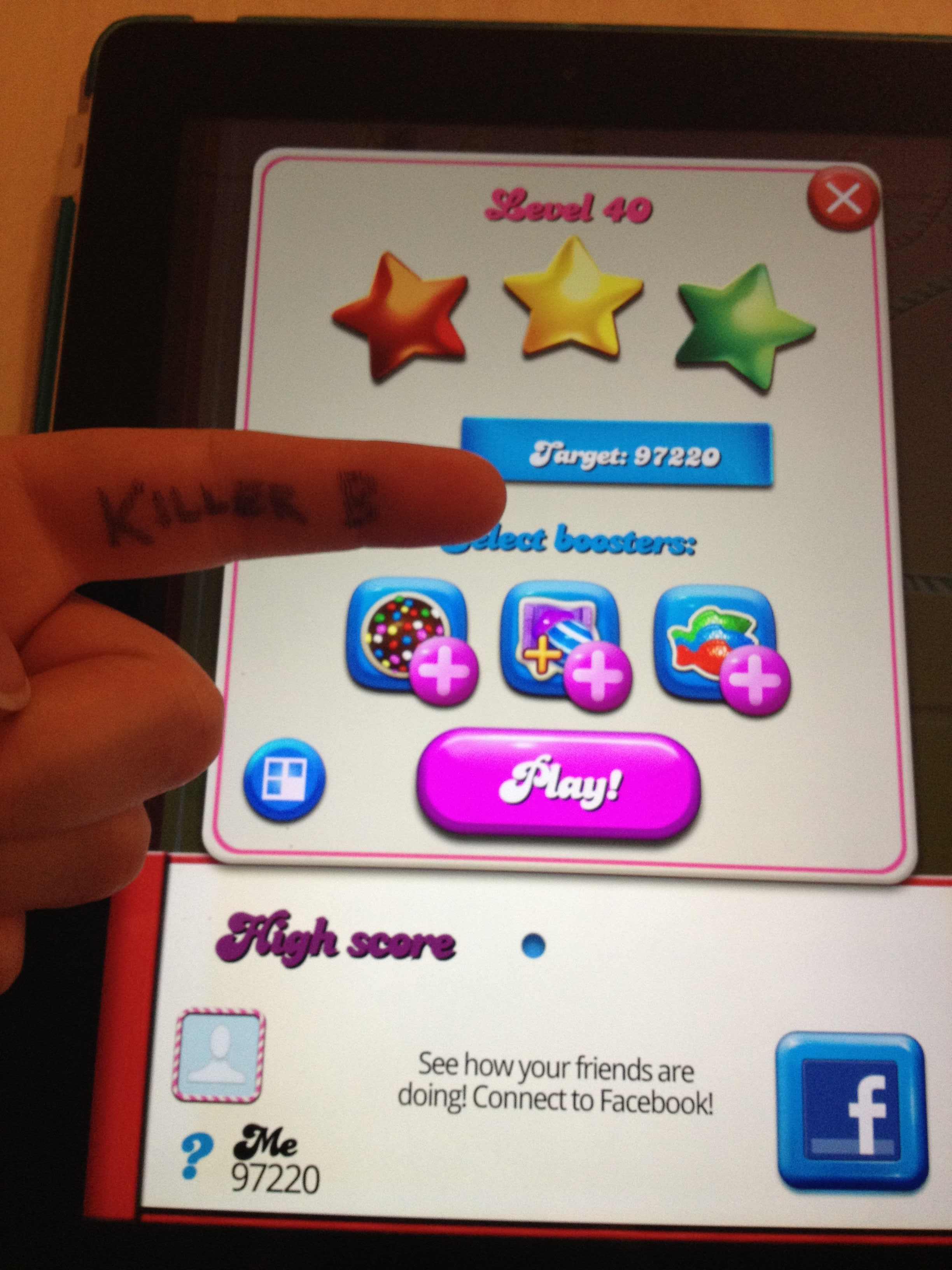 Candy Crush Saga: Level 040 97,220 points