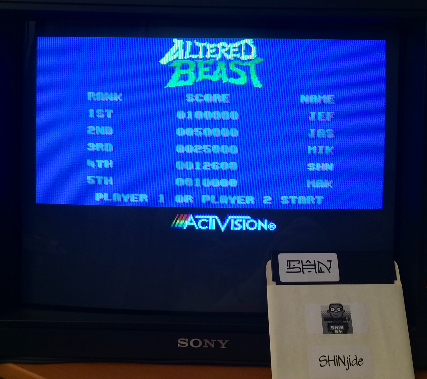 Altered Beast 12,600 points