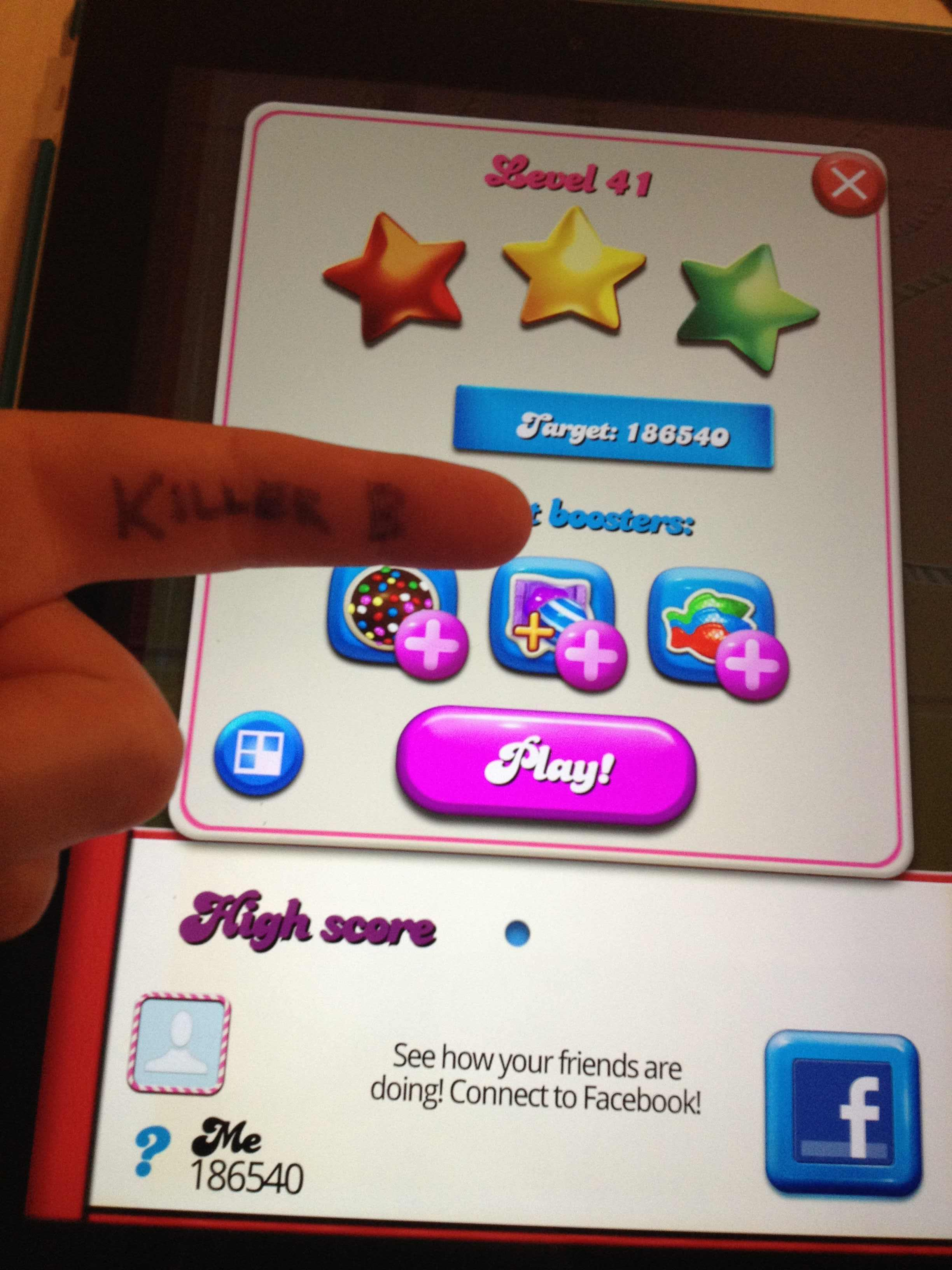 KillerB: Candy Crush Saga: Level 041 (iOS) 186,540 points on 2013-10-06 23:19:45