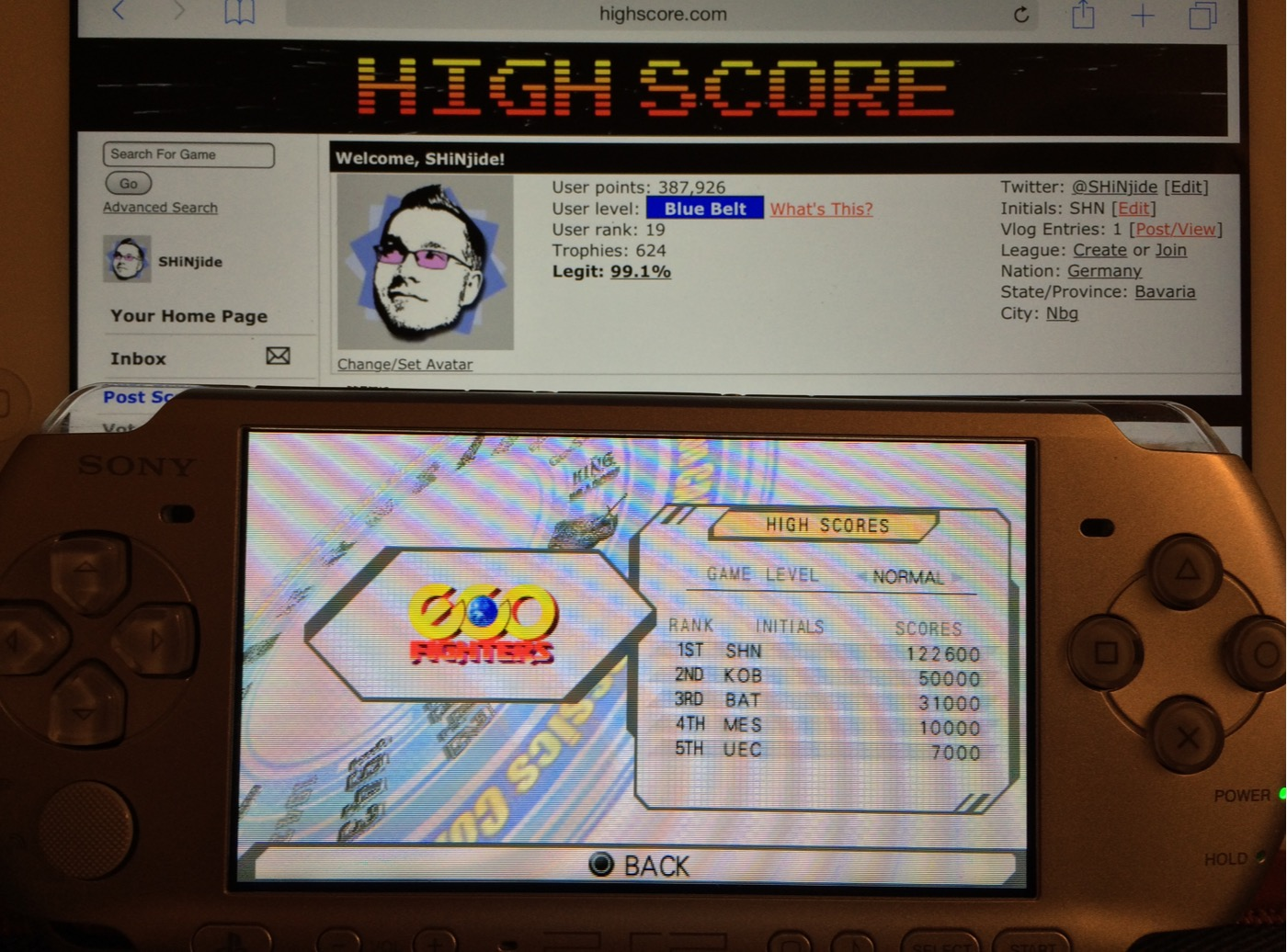 SHiNjide: Capcom Classics Collection Reloaded: Eco Fighters (PSP) 122,600 points on 2014-09-25 16:03:45