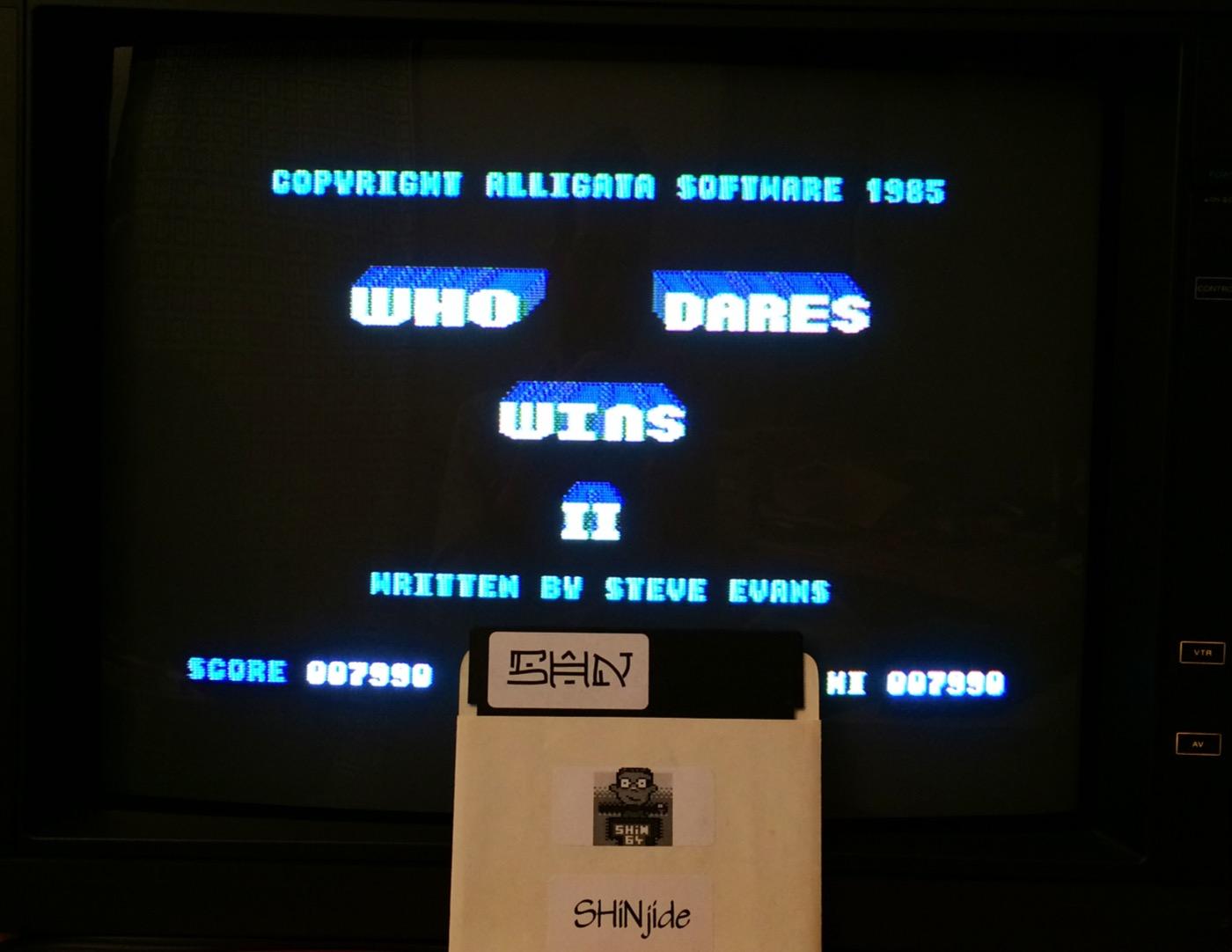 SHiNjide: Who Dares Wins II [Alligata] (Commodore 64) 7,990 points on 2014-09-25 16:05:33