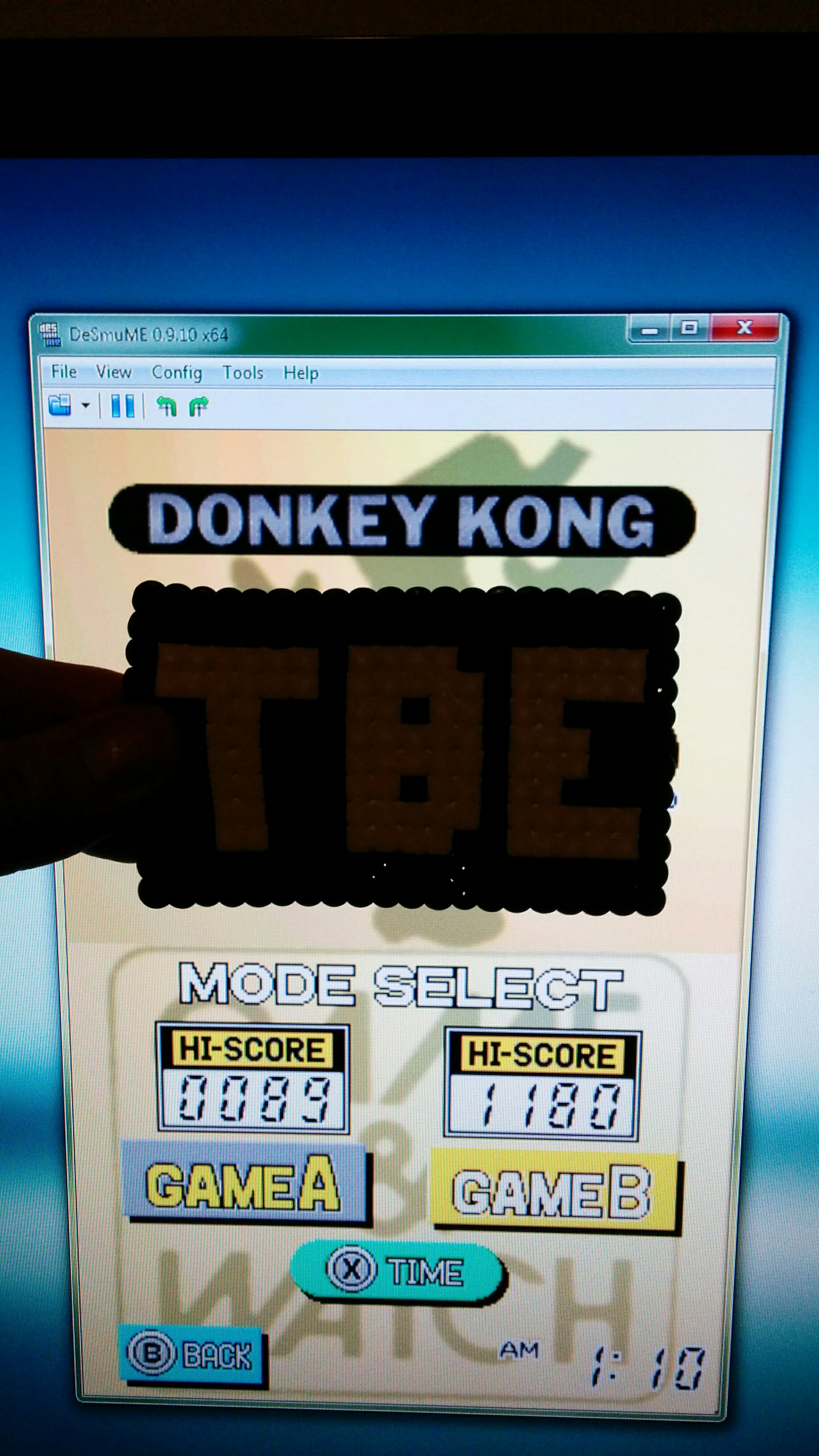 Sixx: Game & Watch Collection: Donkey Kong [Game B] (Nintendo DS Emulated) 1,180 points on 2014-09-25 18:28:58