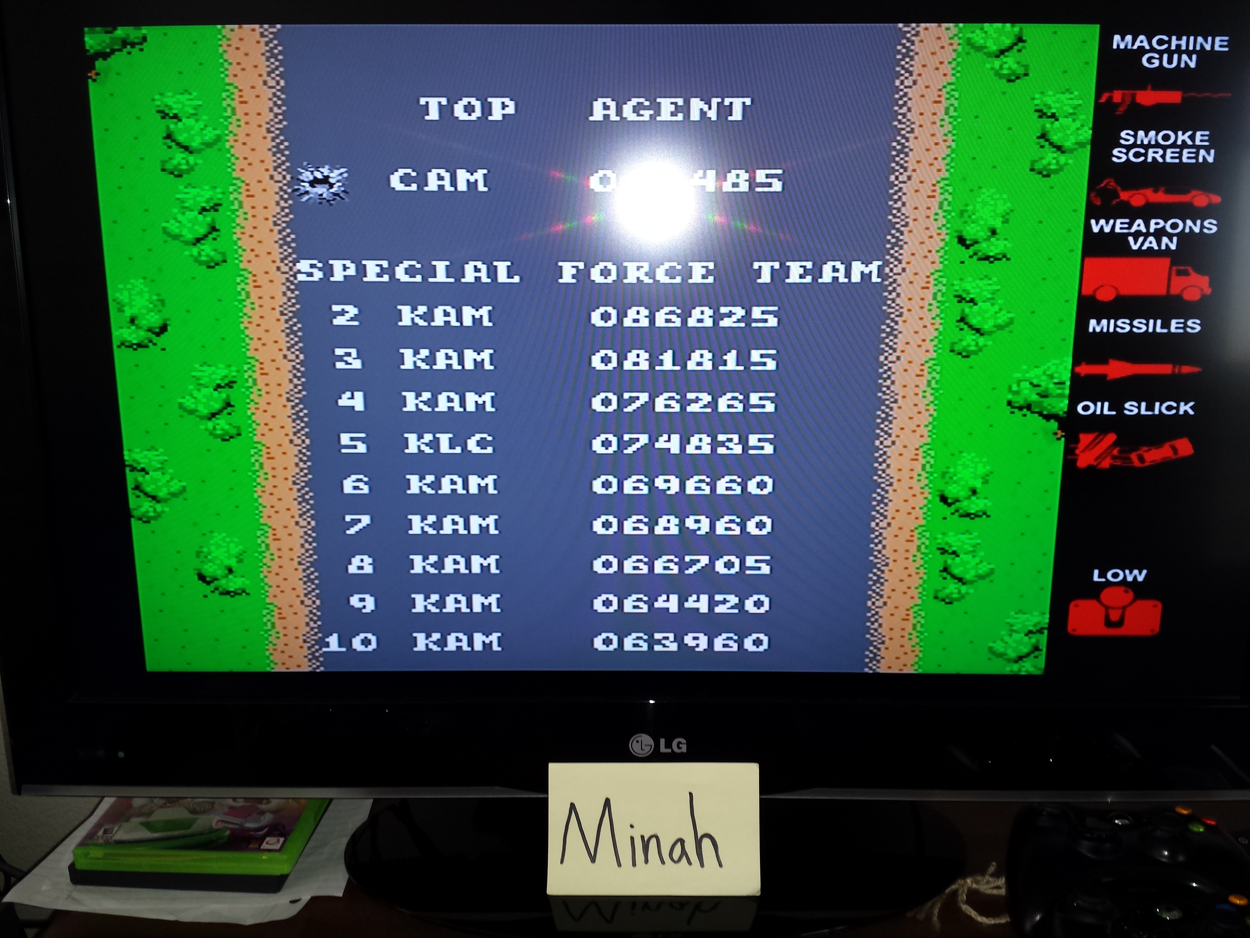 Midway Arcade Treasures: Spy Hunter 86,825 points