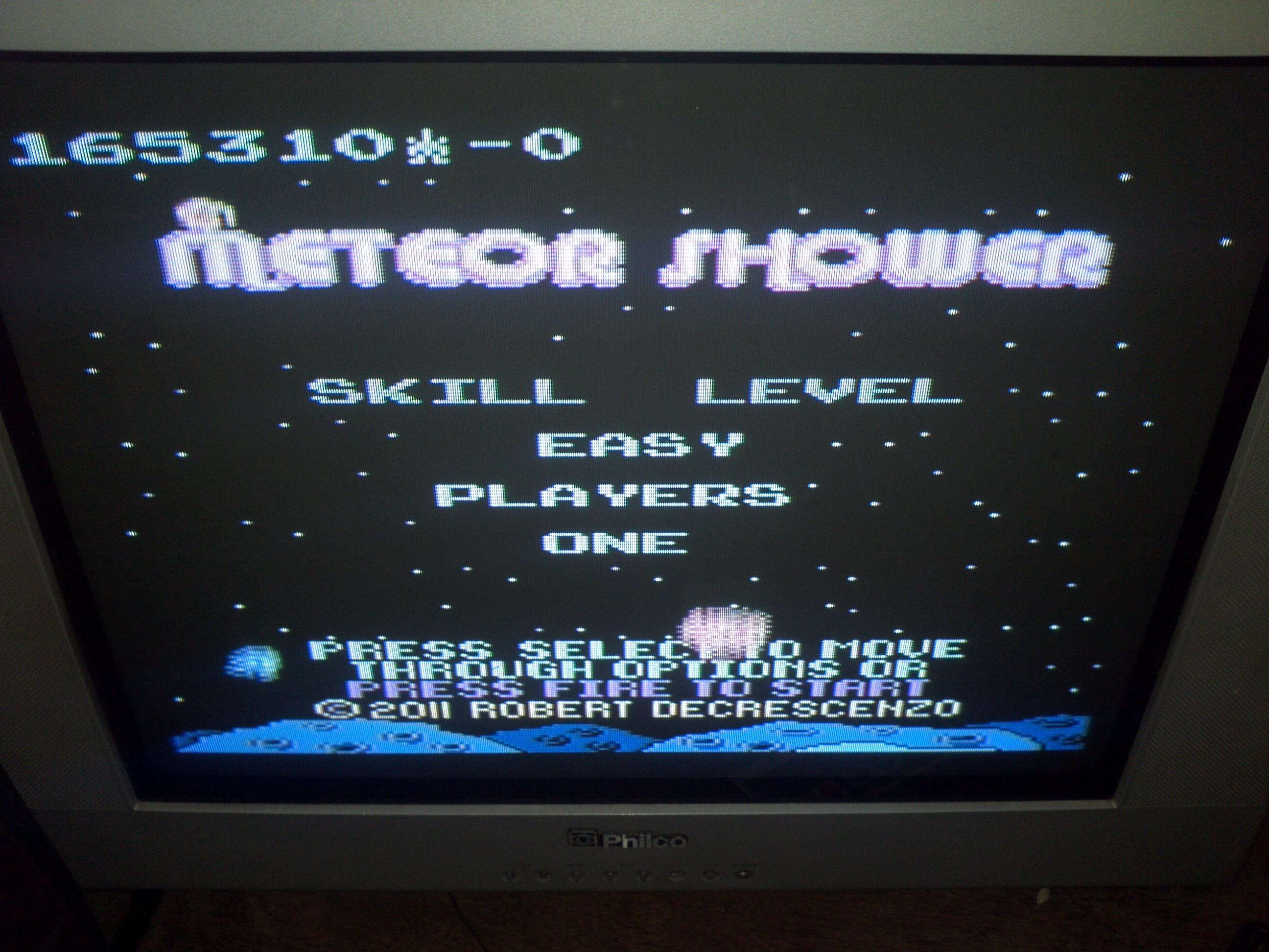 Liduario: Meteor Shower: Easy (Atari 7800) 165,310 points on 2014-09-26 10:41:39