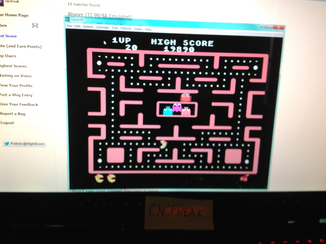 Ms. Pac-Man 19,890 points