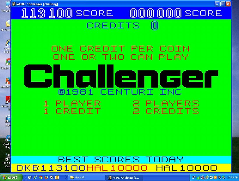 DarrylB: Challenger [challeng] (Arcade Emulated / M.A.M.E.) 113,100 points on 2014-09-27 11:39:31