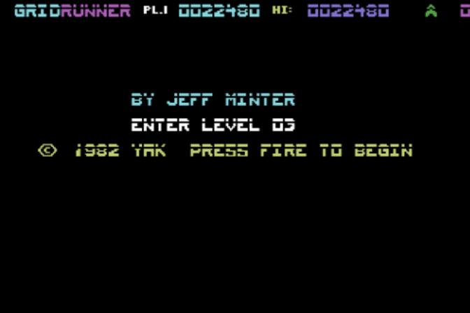 Gridrunner: C64 mode 22,480 points