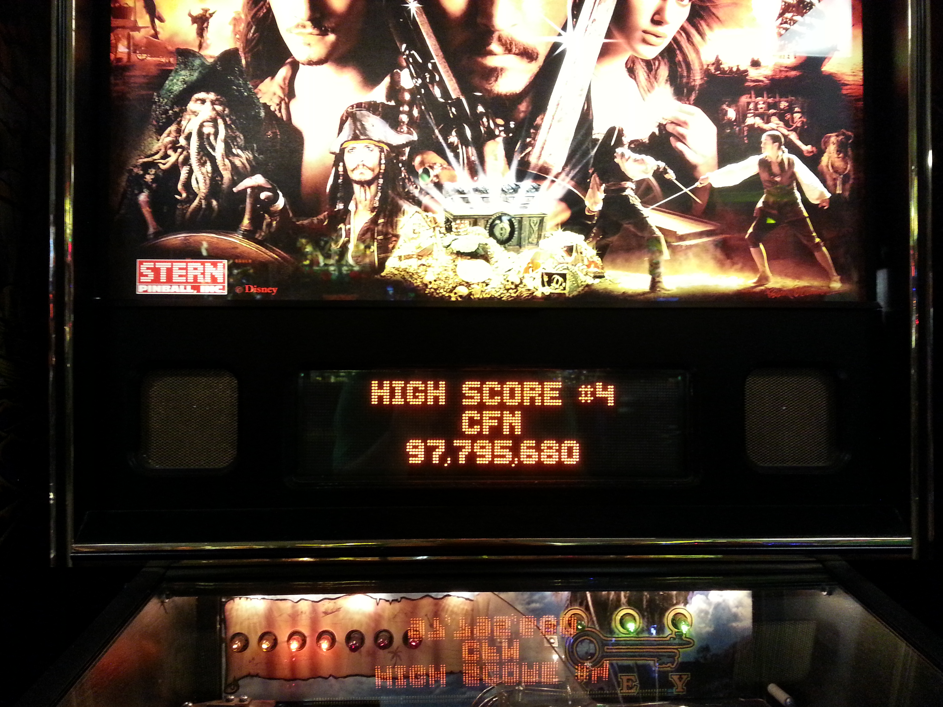 ceafin: Pirates of the Caribbean (Pinball: 3 Balls) 97,795,680 points on 2014-09-28 13:41:19