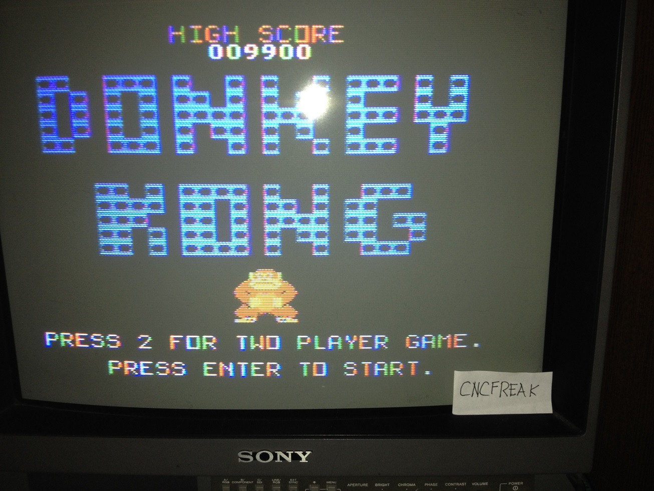 Donkey Kong 9,900 points