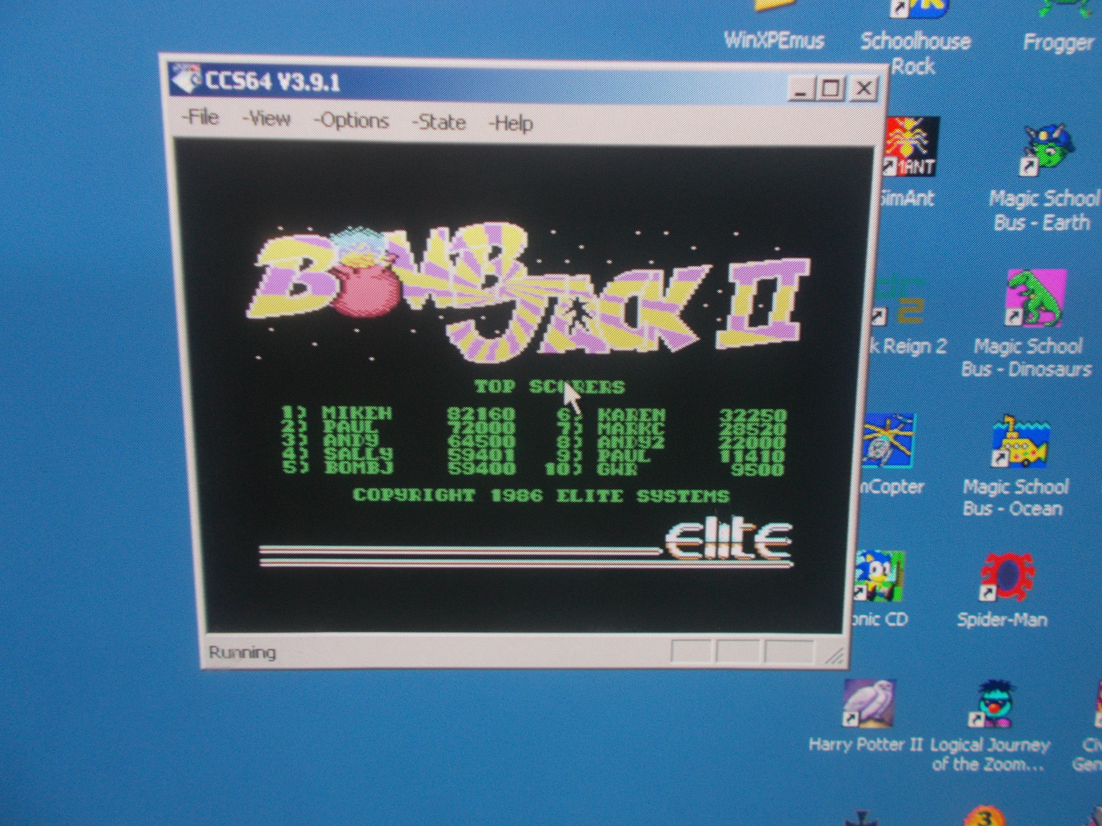 DuckGWR: Bomb Jack II (Commodore 64 Emulated) 9,500 points on 2014-10-03 19:17:53