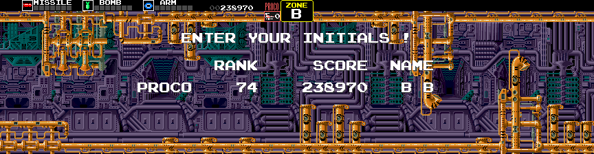 BarryBloso: Darius [darius] (Arcade Emulated / M.A.M.E.) 238,970 points on 2014-10-04 07:34:59