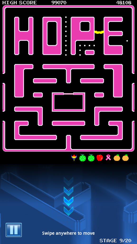 Congslop: Pac-Man: Breast Cancer Map 1: HOPE [No Continues] (iOS) 48,108 points on 2014-10-04 21:47:44