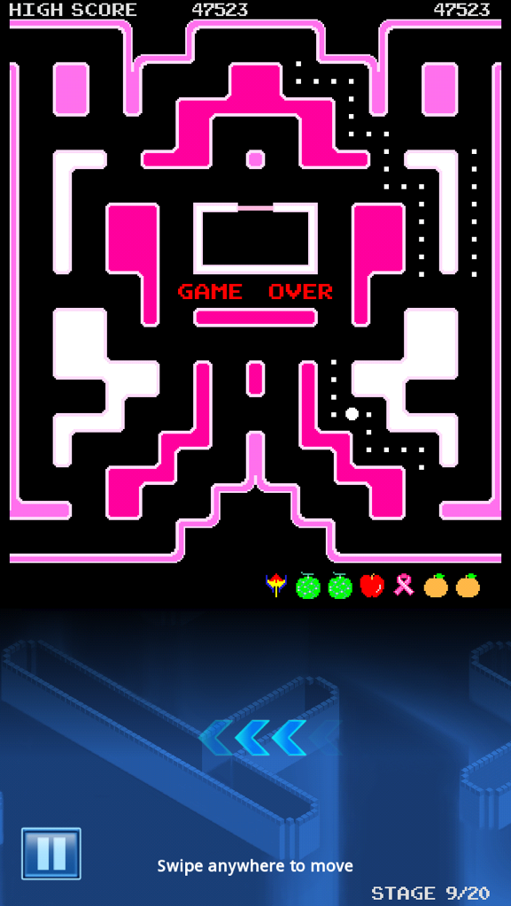 Pac-Man: Breast Cancer Map 2: CURE [No Continues] 47,523 points