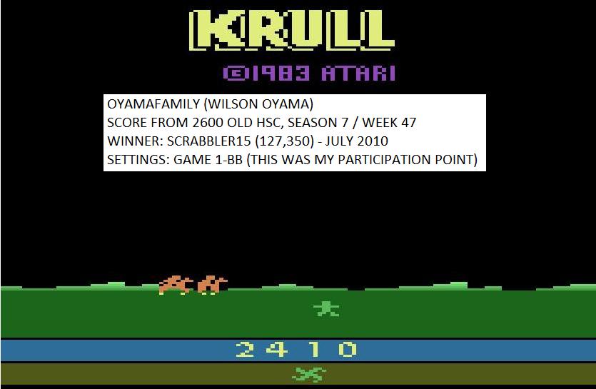 Krull 2,410 points
