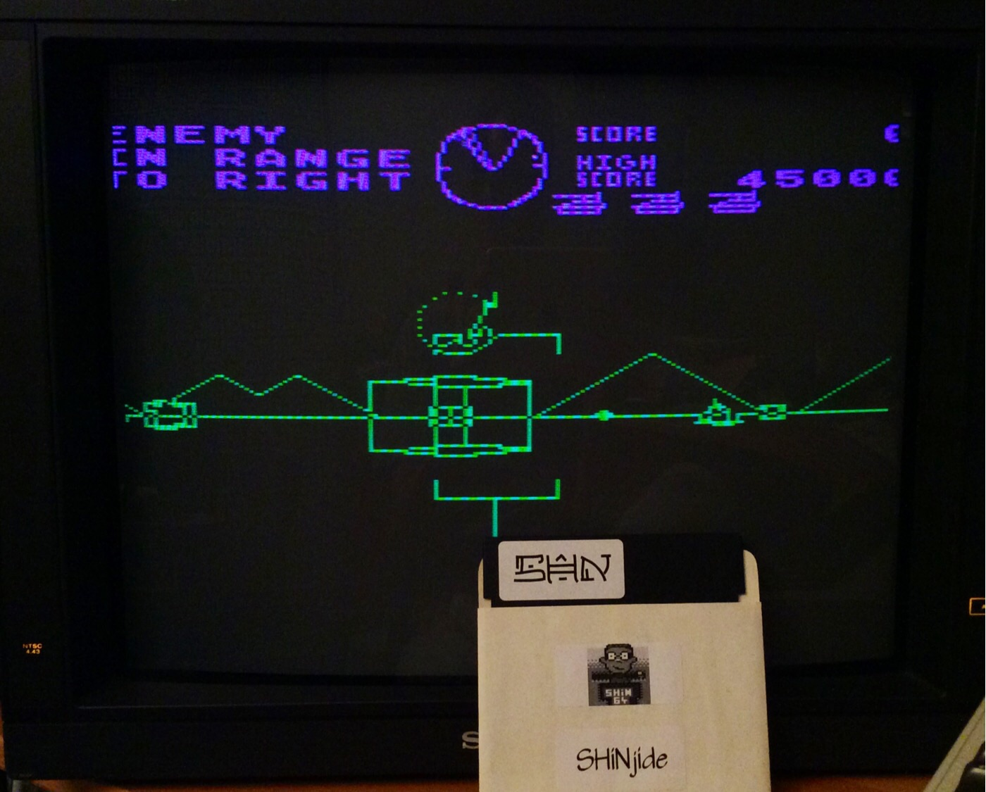 SHiNjide: Battlezone (Atari 400/800/XL/XE Emulated) 45,000 points on 2014-10-06 14:06:56