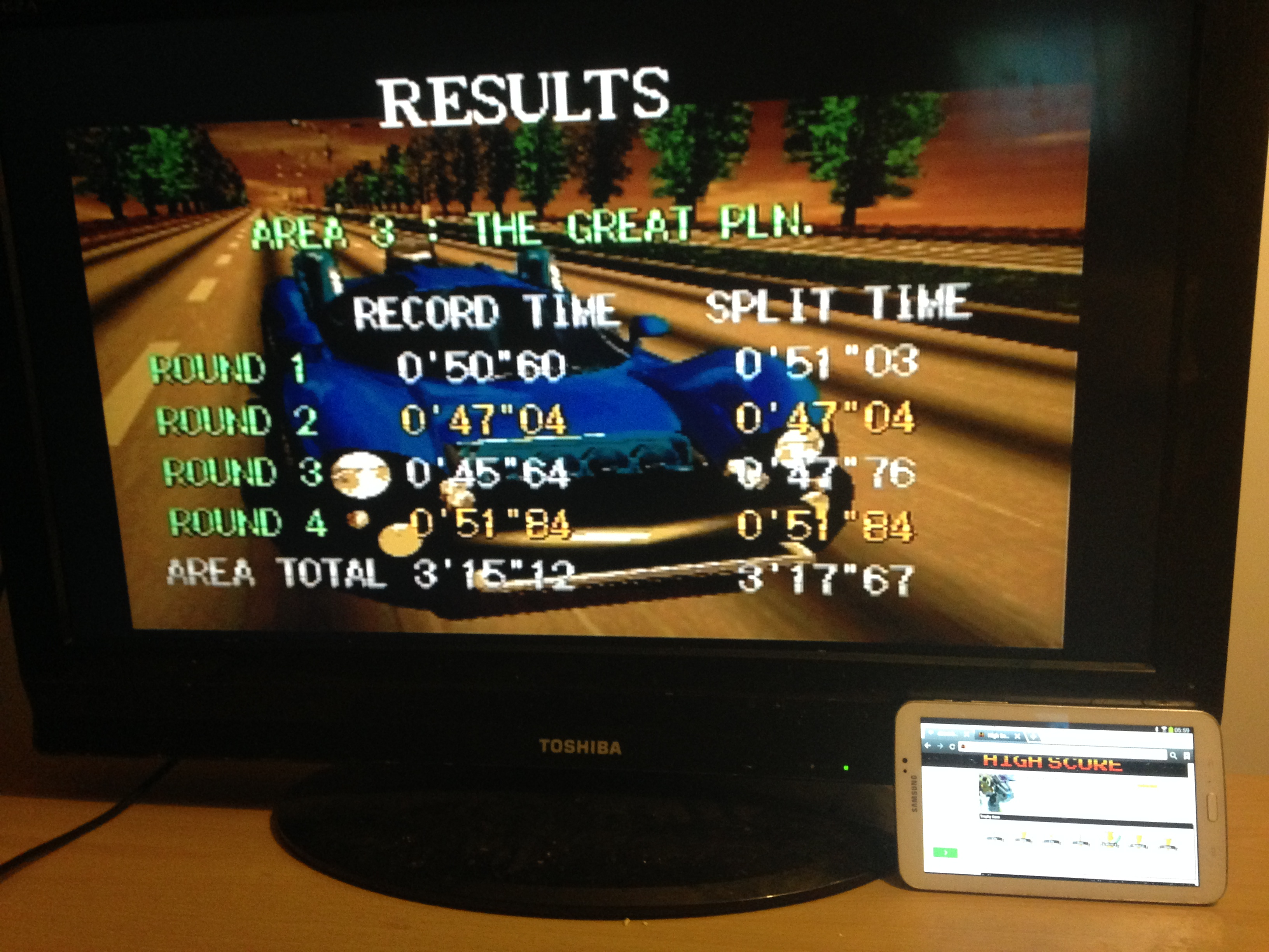 Gale Racer: Time Attack Area 3 time of 0:03:17.67