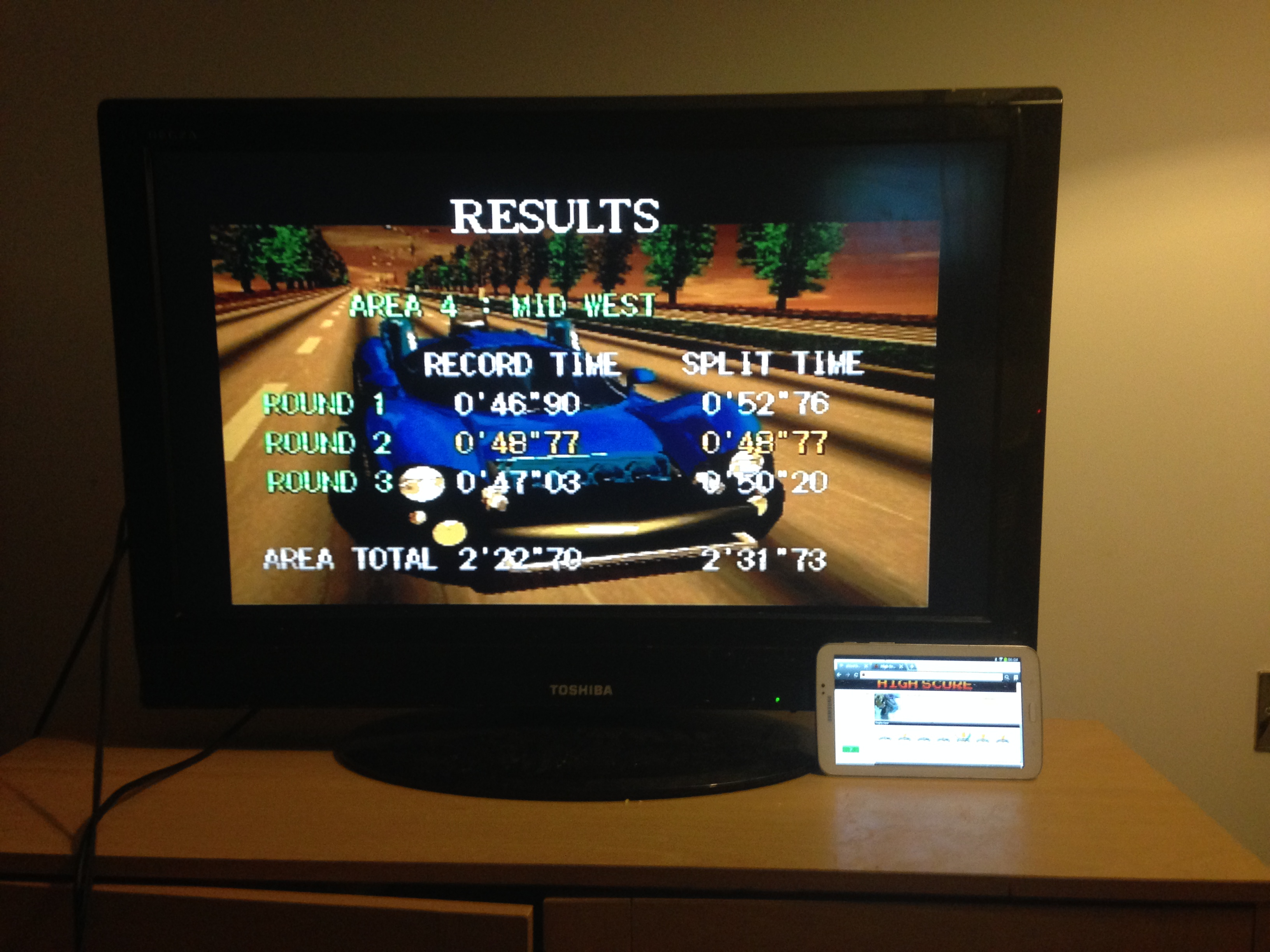 mechafatnick: Gale Racer: Time Attack Area 4 (Sega Saturn) 0:02:31.73 points on 2014-10-07 01:18:13