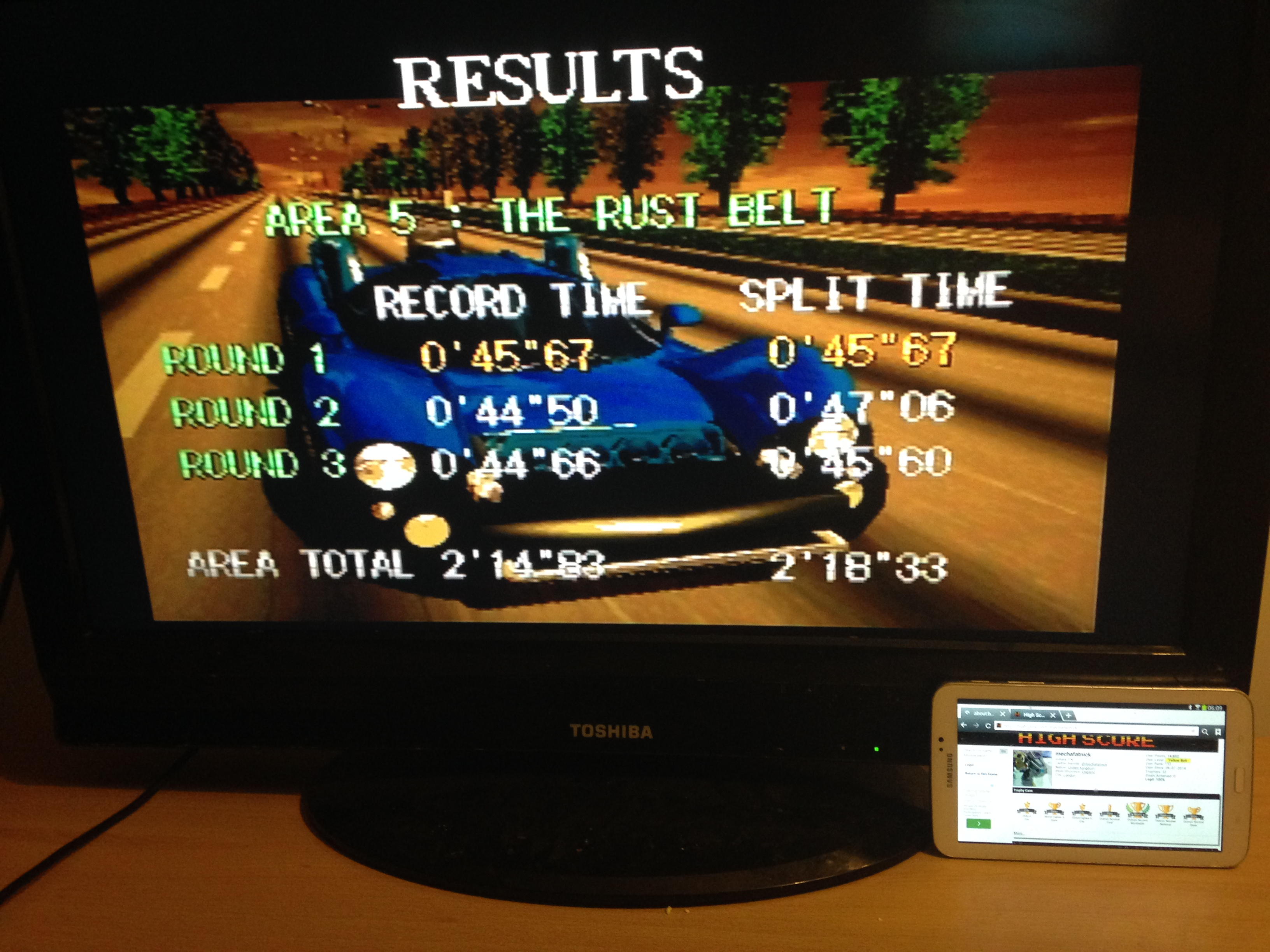 mechafatnick: Gale Racer: Time Attack Area 5 (Sega Saturn) 0:02:18.33 points on 2014-10-07 01:19:23