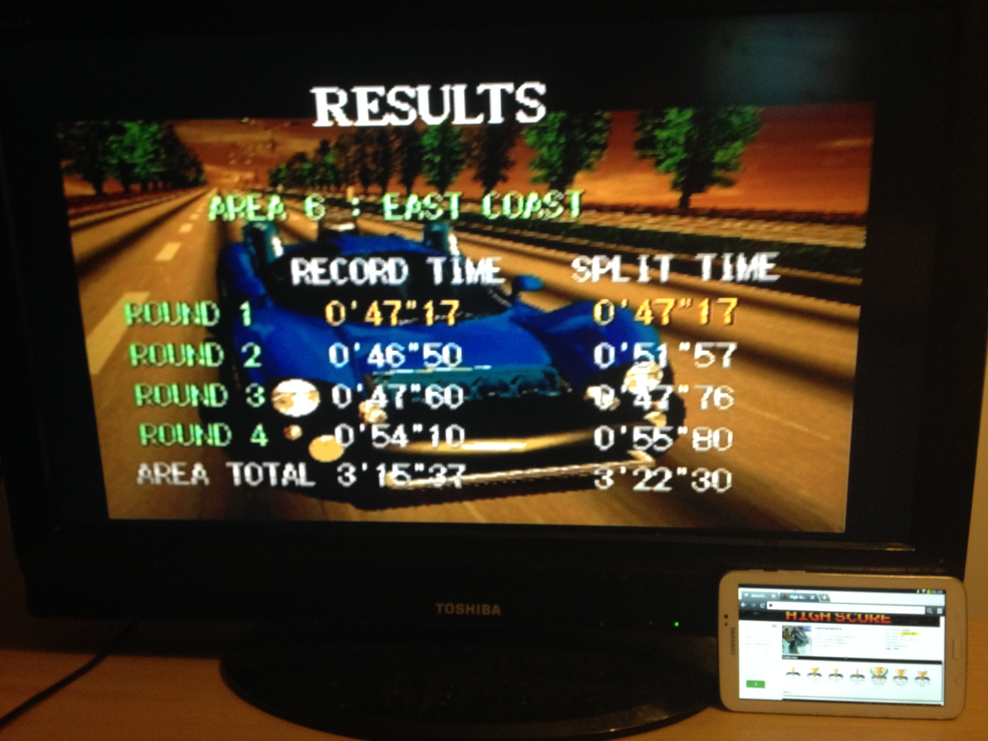mechafatnick: Gale Racer: Time Attack Area 6 (Sega Saturn) 0:03:22.3 points on 2014-10-07 01:21:20