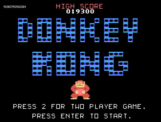 Donkey Kong 19,300 points