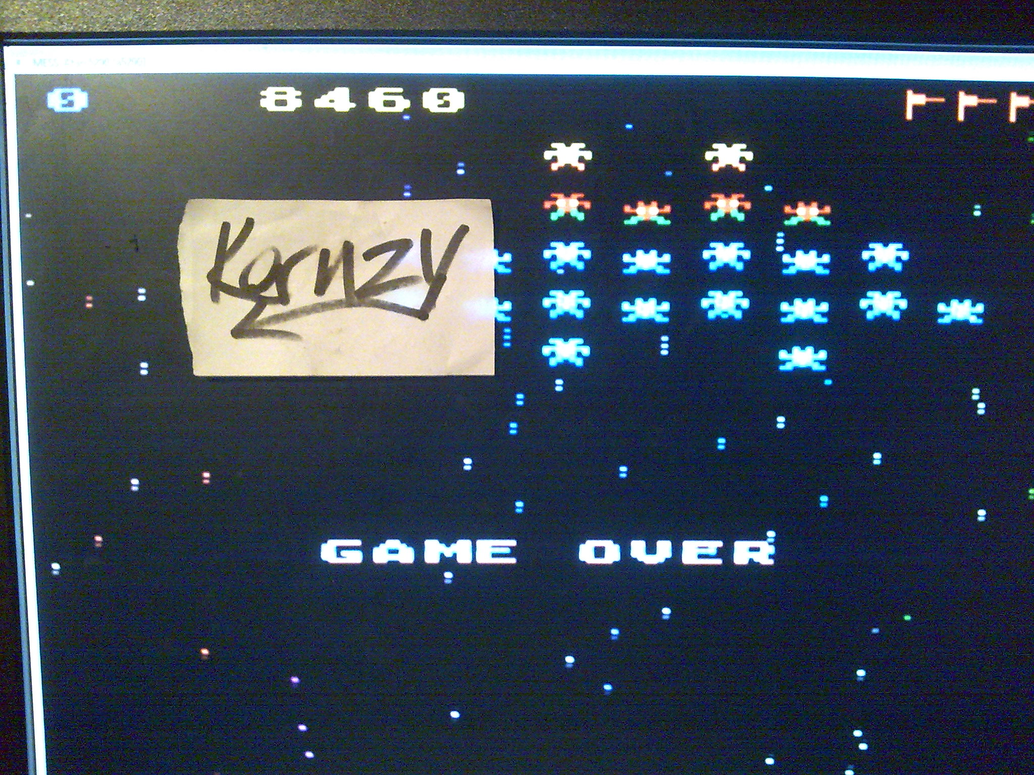 kernzy: Galaxian: Skill Level 1 (Atari 5200 Emulated) 8,460 points on 2014-10-08 11:42:45