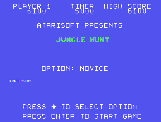 Jungle Hunt 6,100 points