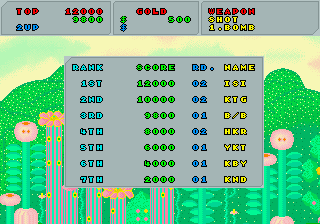 BarryBloso: Fantasy Zone [fantzone] (Arcade Emulated / M.A.M.E.) 9,800 points on 2014-10-10 04:58:38