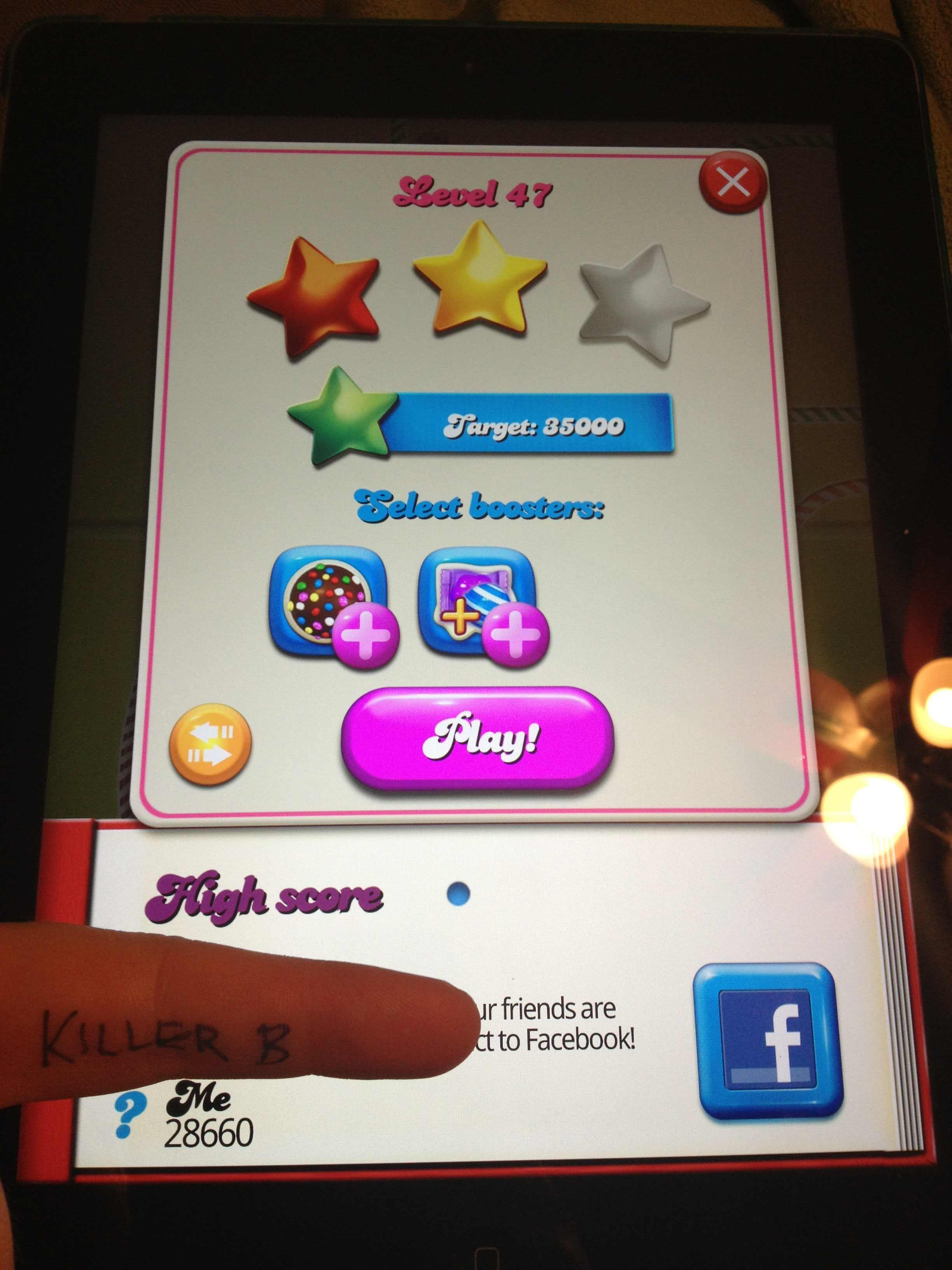 Candy Crush Saga: Level 047 28,660 points