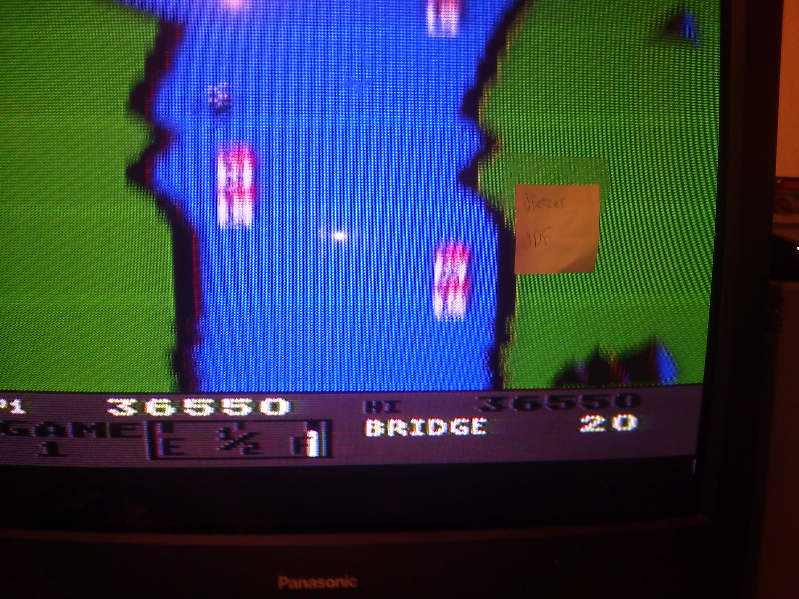 jfetzer: River Raid: Game 1 (Atari 5200) 36,550 points on 2014-10-10 20:20:43