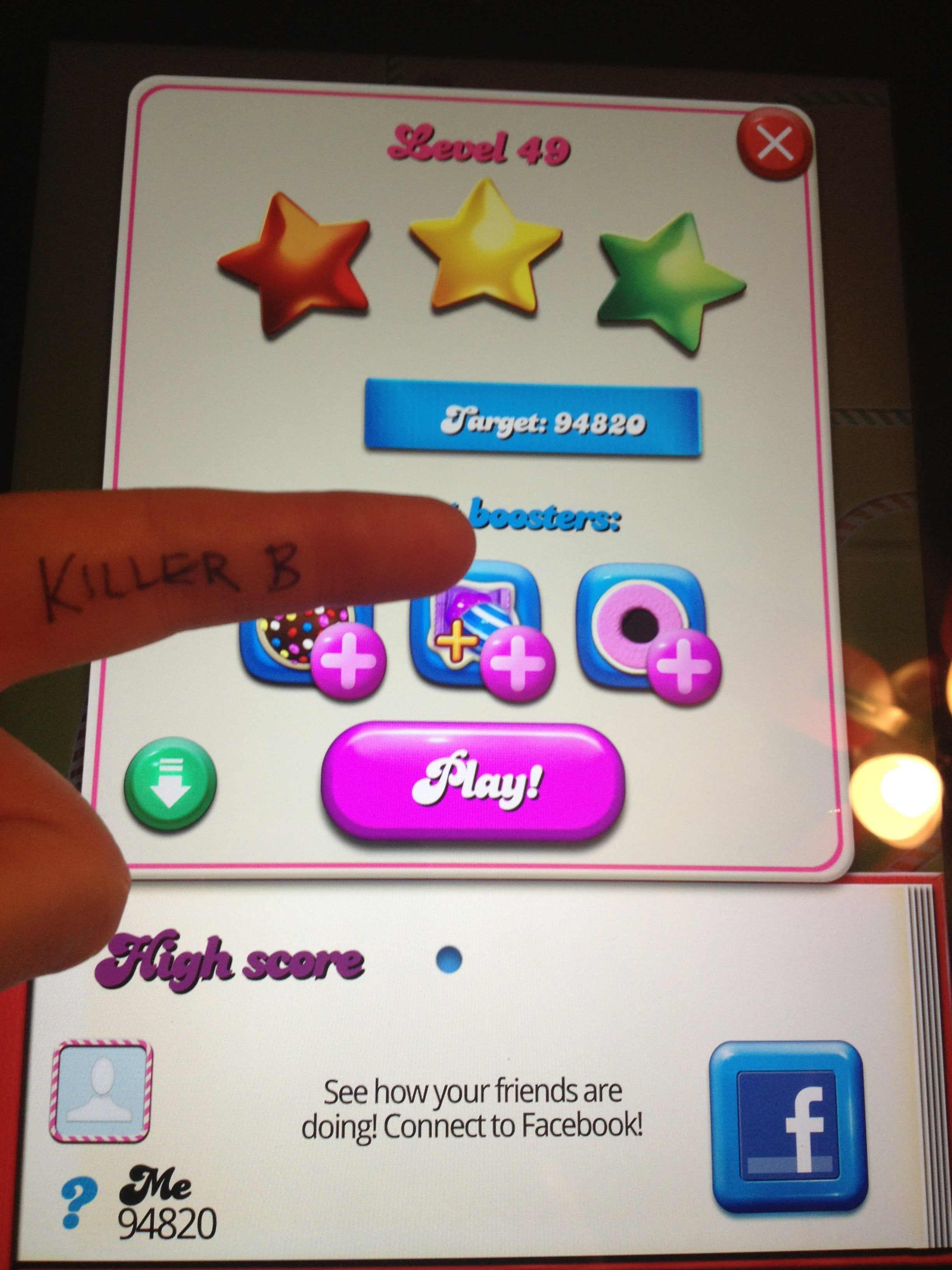 Candy Crush Saga: Level 049 94,820 points