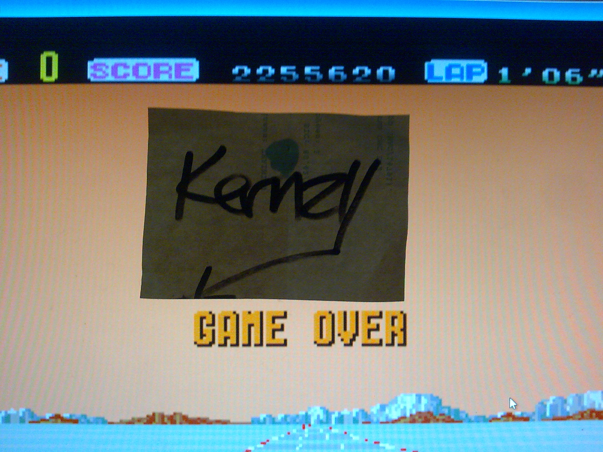 kernzy: Out Run: Hard (TurboGrafx-16/PC Engine Emulated) 2,255,620 points on 2014-10-11 03:12:47