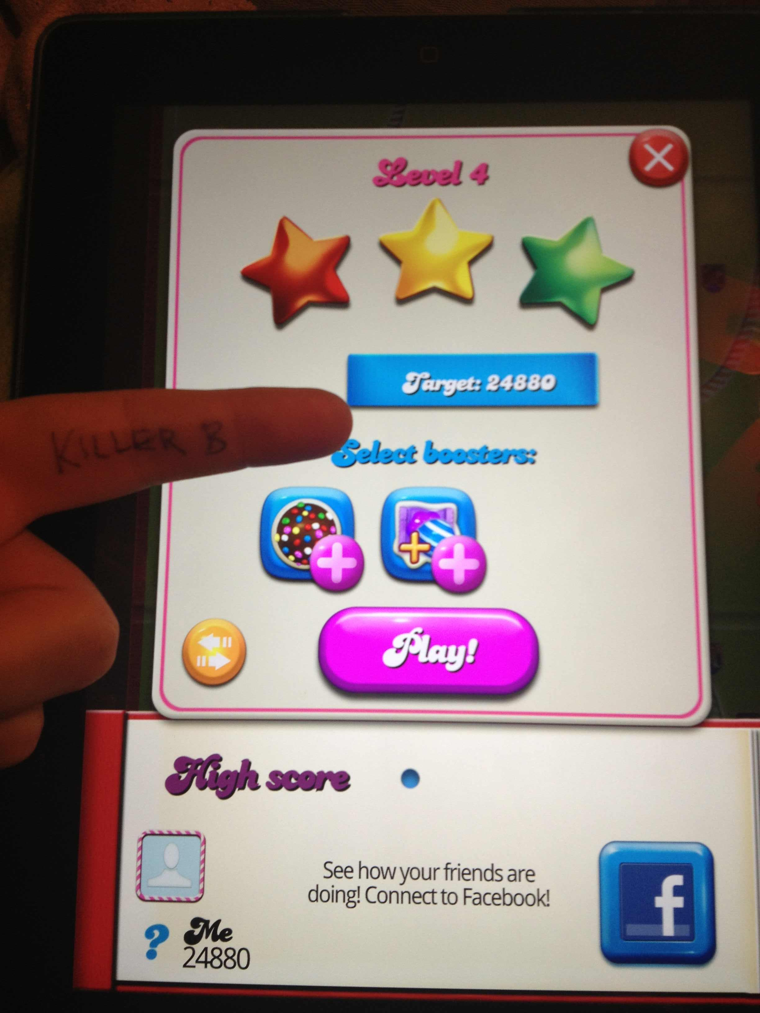 Candy Crush Saga: Level 004 24,880 points