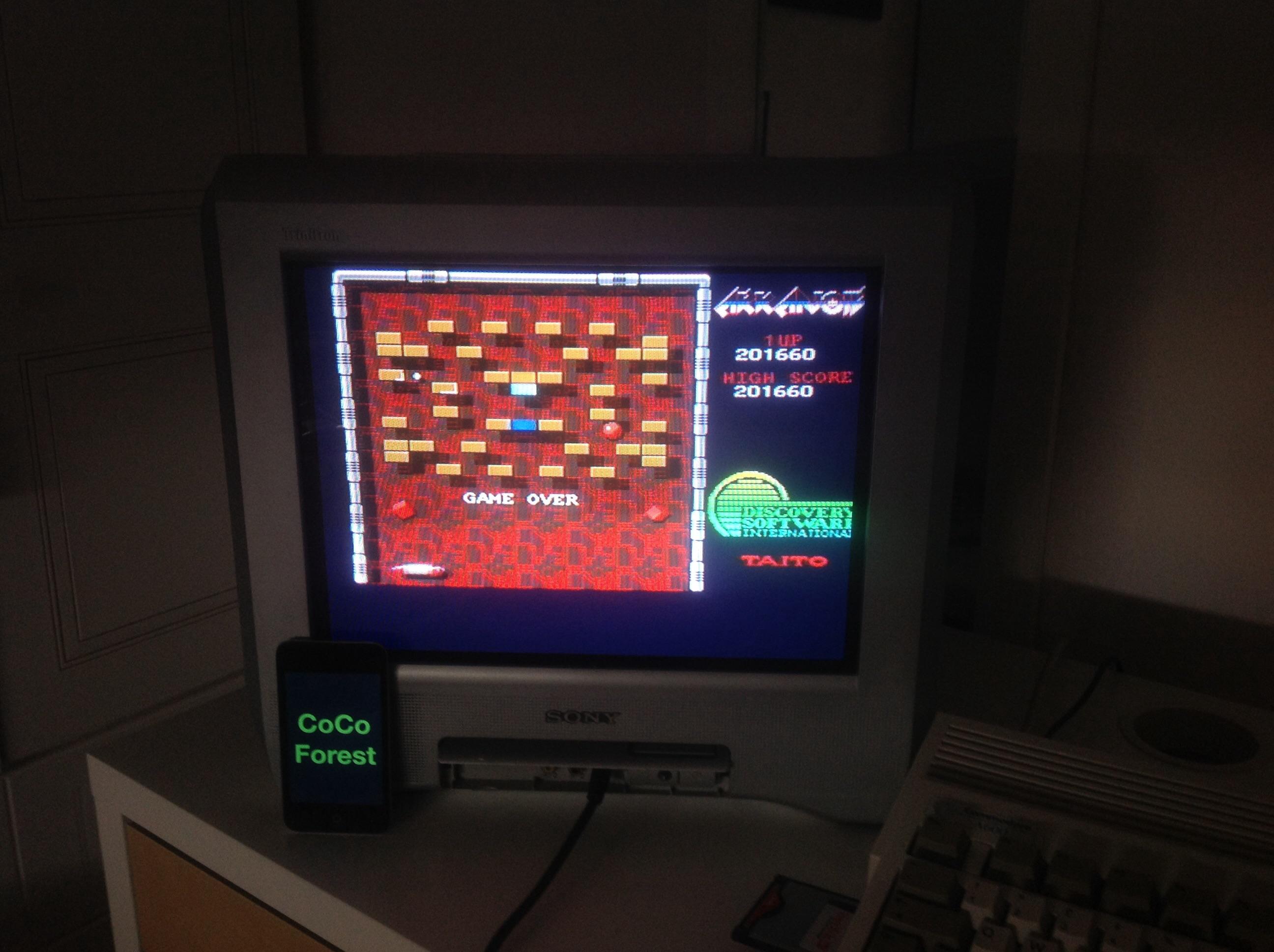 CoCoForest: Arkanoid (Amiga) 201,660 points on 2014-10-11 09:39:49