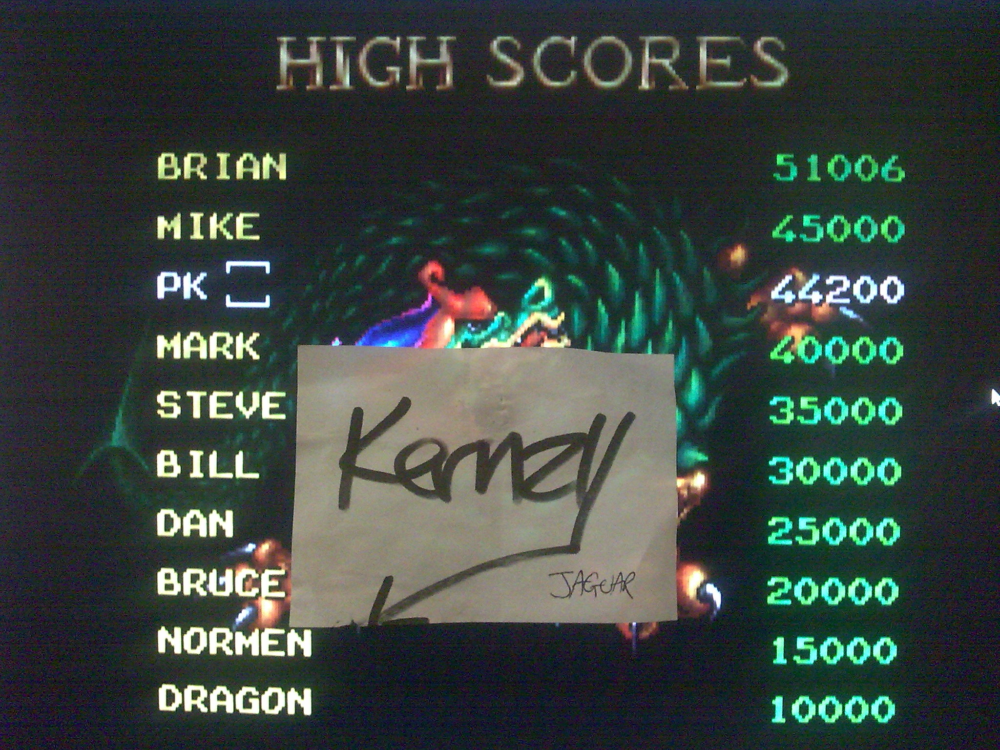 kernzy: Dragon: The Bruce Lee Story [1 player story mode/Normal] (Atari Jaguar Emulated) 44,200 points on 2014-10-11 15:18:04