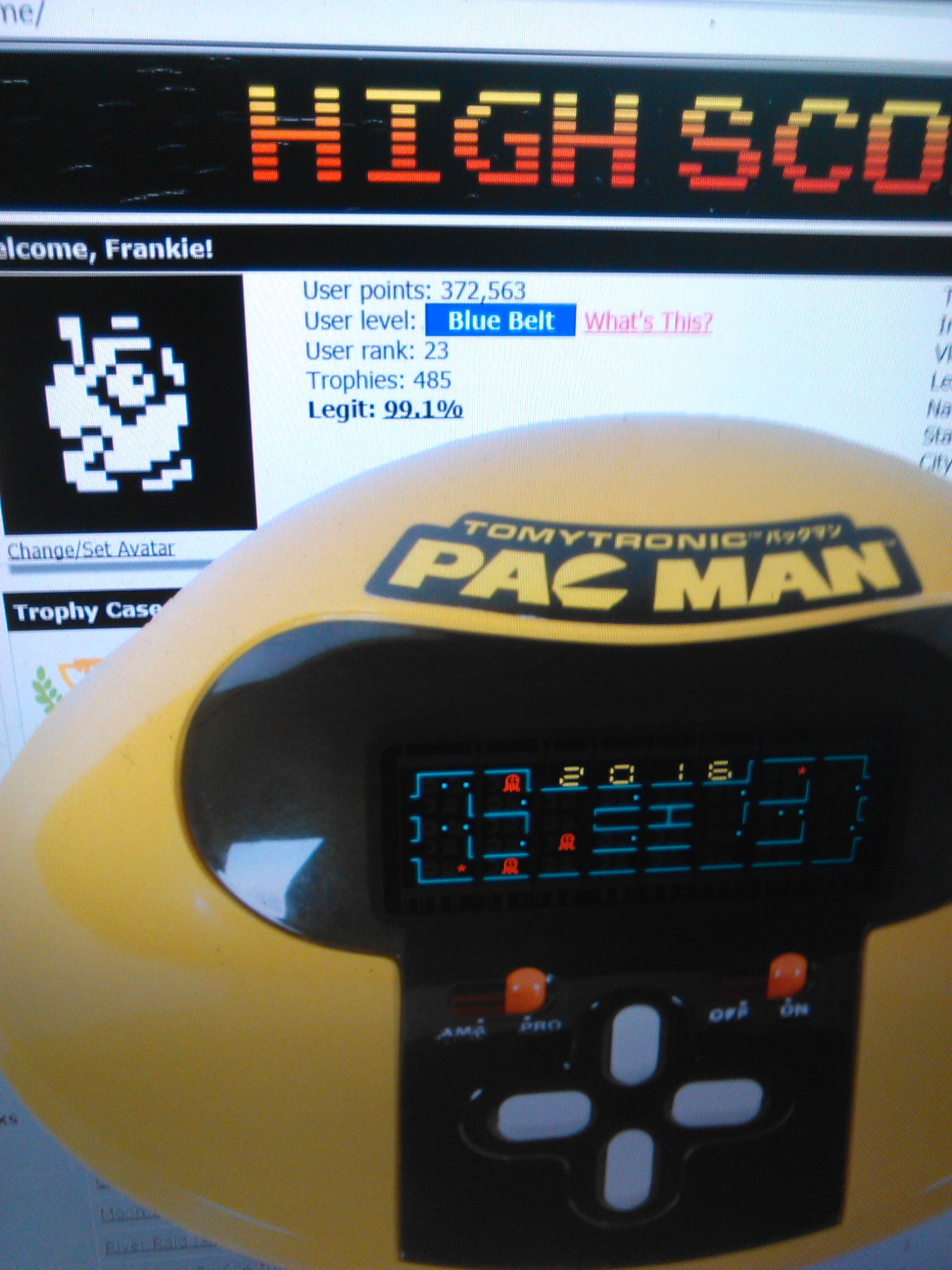 TomyTronic Pac-Man [Pro] 2,016 points