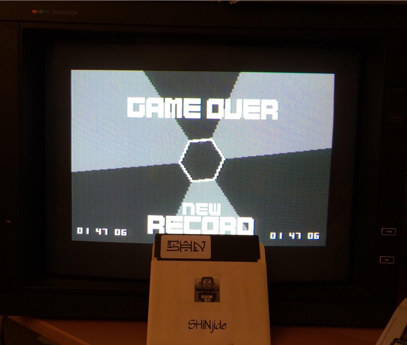 SHiNjide: Micro Hexagon (Commodore 64) 0:01:47.06 points on 2014-10-12 14:02:33