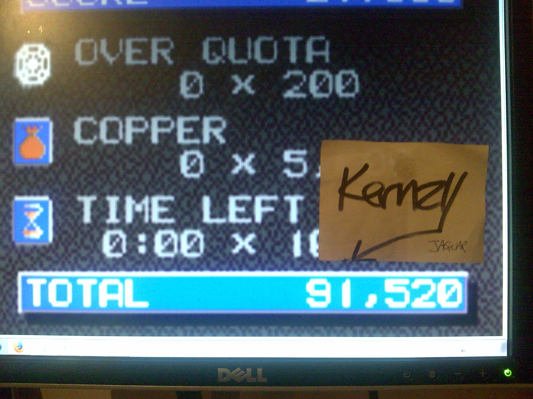 kernzy: Crystal Mines II (Atari Lynx Emulated) 91,520 points on 2014-10-12 17:54:22