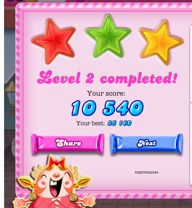 Candy Crush Saga: Level 002 25,160 points