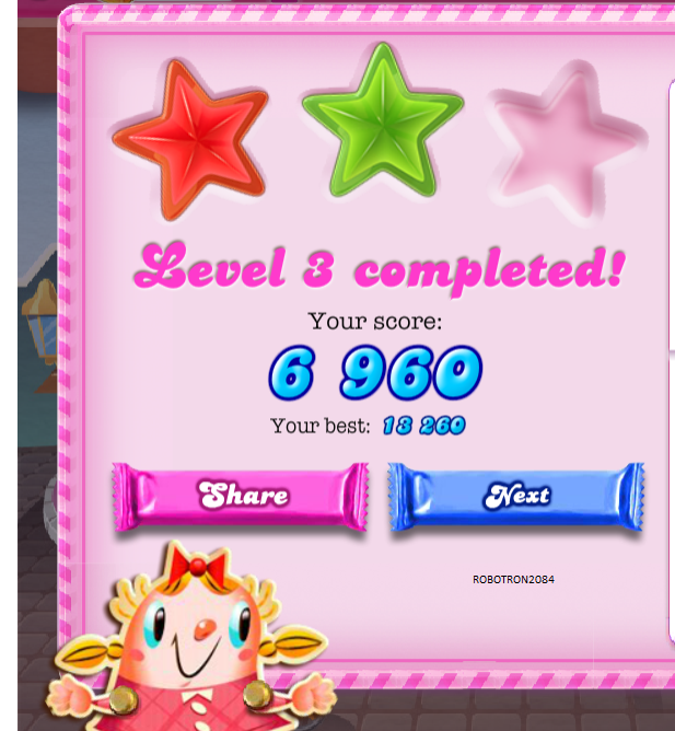 Candy Crush Saga: Level 003 13,260 points