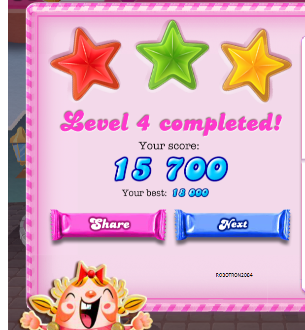 Candy Crush Saga: Level 004 18,000 points
