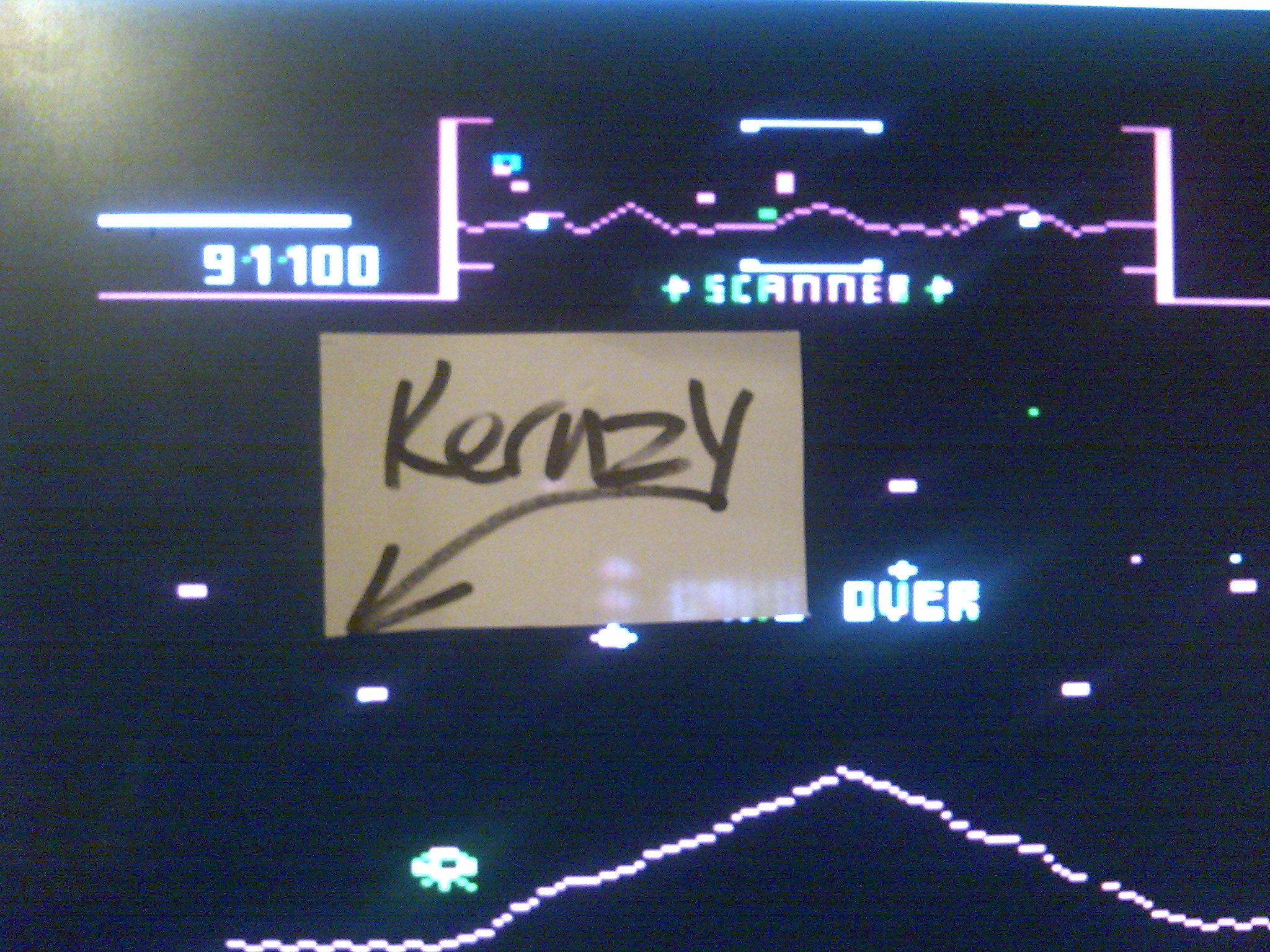 kernzy: Stargate [Default: Difficulty 3/3 Ships] (Atari 400/800/XL/XE Emulated) 91,100 points on 2014-10-13 21:12:58