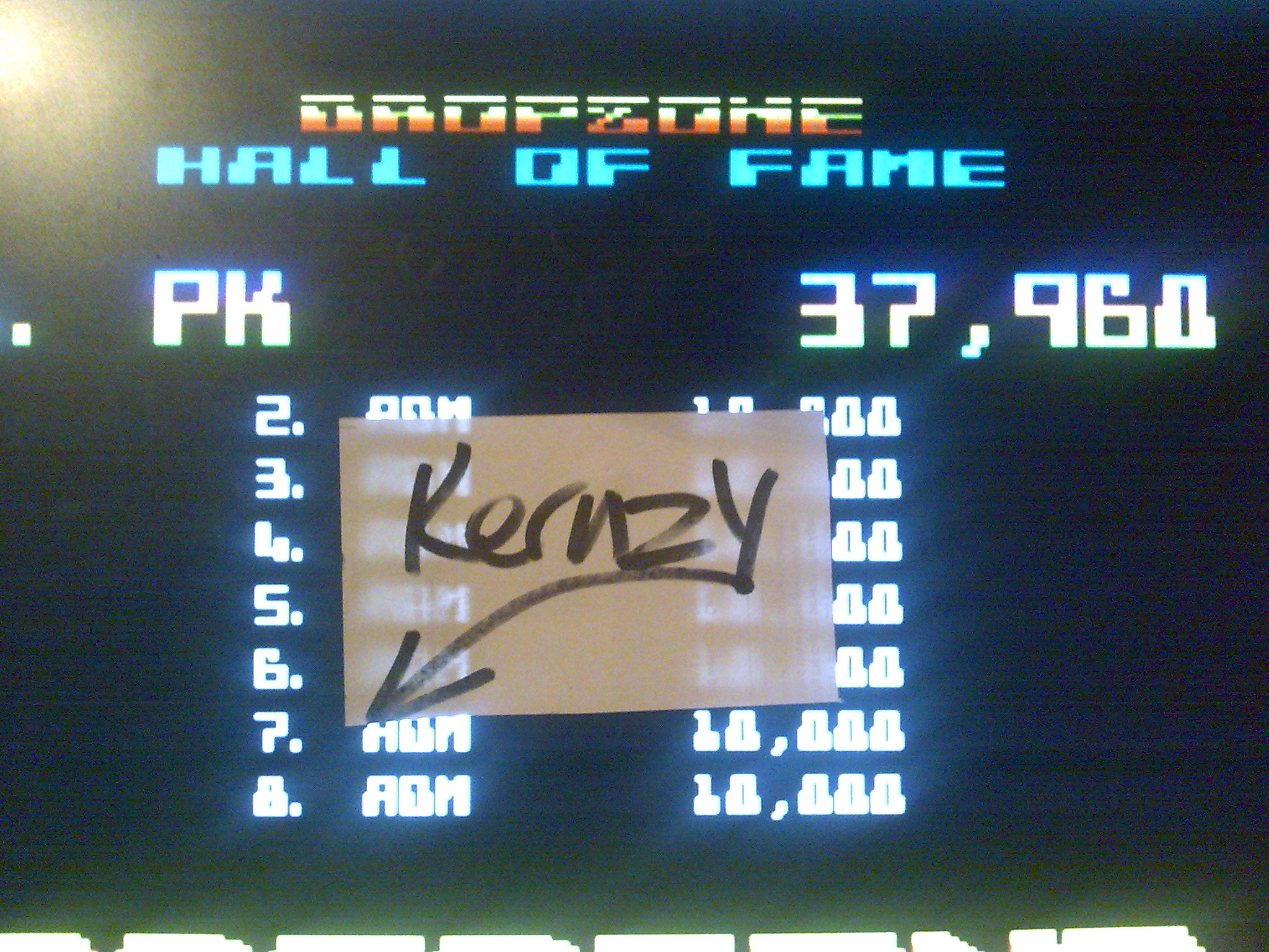 kernzy: Dropzone (Atari 400/800/XL/XE Emulated) 37,960 points on 2014-10-13 21:13:59